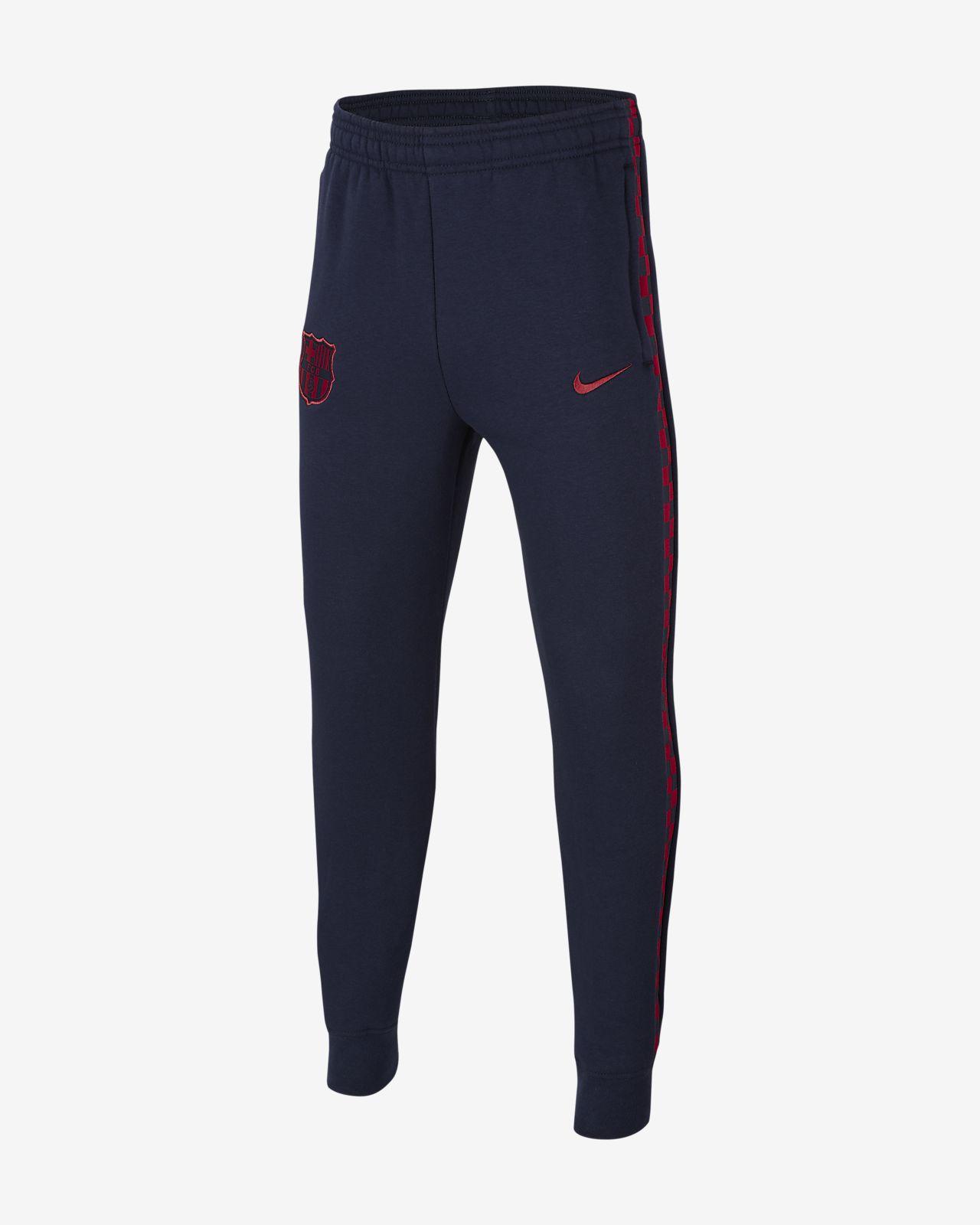Flísové kalhoty FC Barcelona pro větší děti