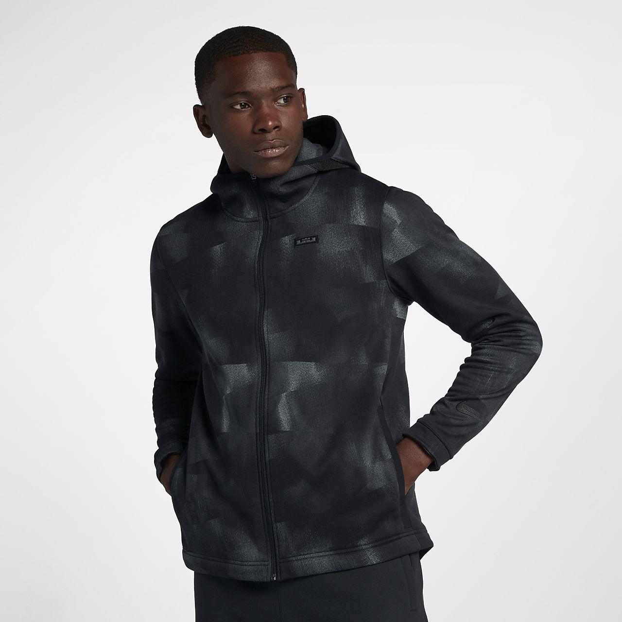 Huvtröja med hel dragkedja Nike Therma LeBron för män