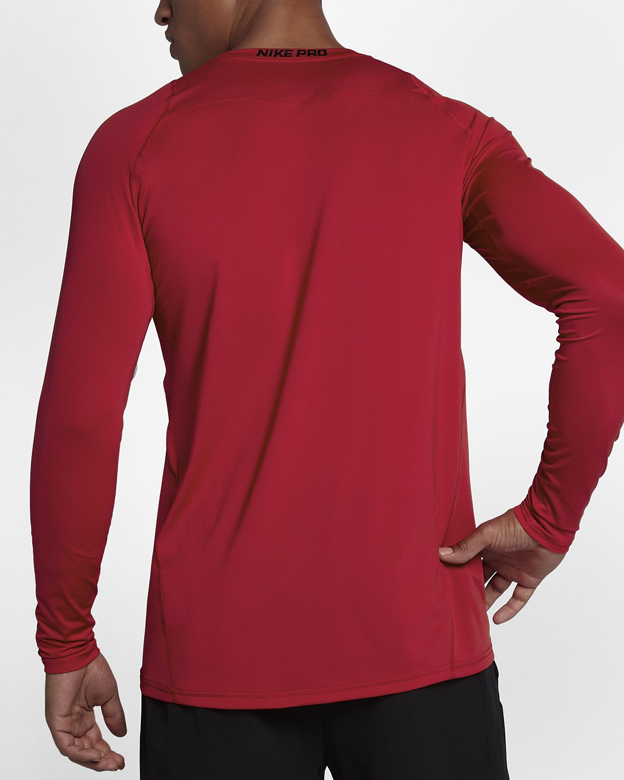 Nike Pro Top Men's Fitted Long-Sleeve Top