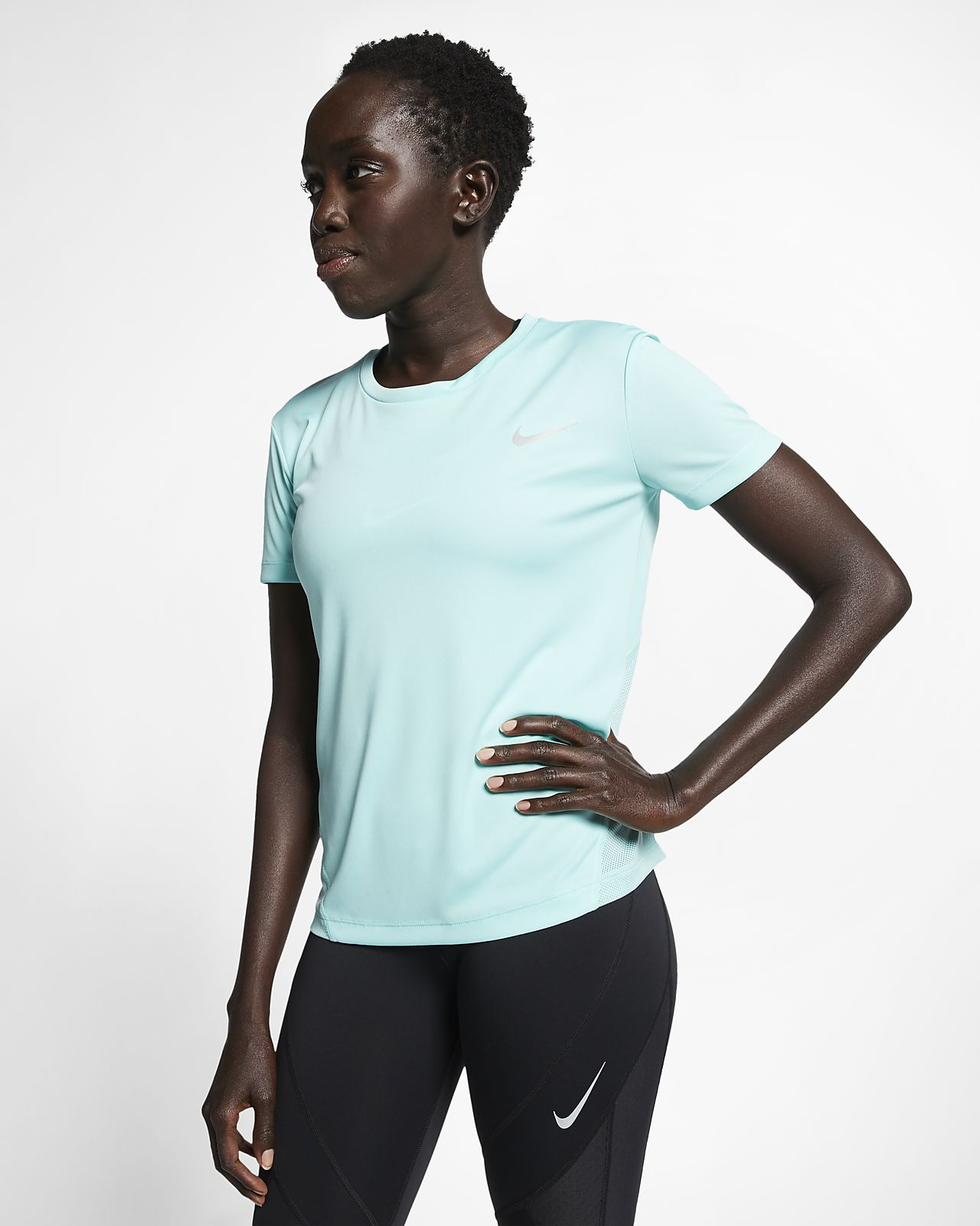 d514d9d203e3 Γυναικεία κοντομάνικη μπλούζα για τρέξιμο Nike Miler. Nike.com GR