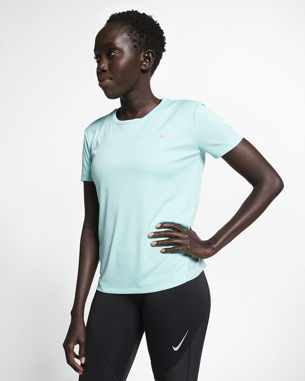 official photos 58d6c 253ab ... Nike Miler Women s Short-Sleeve Running Top