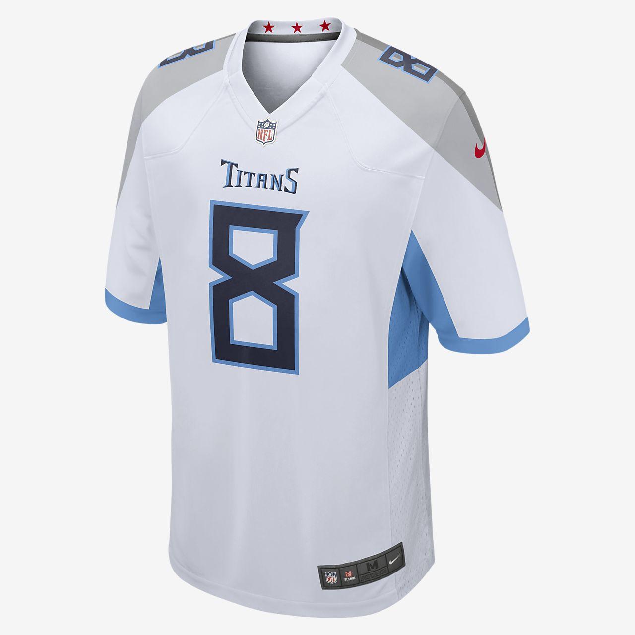 cb098612dd6 ... NFL Tennessee Titans (Marcus Mariota) Men's Football Away Game Jersey