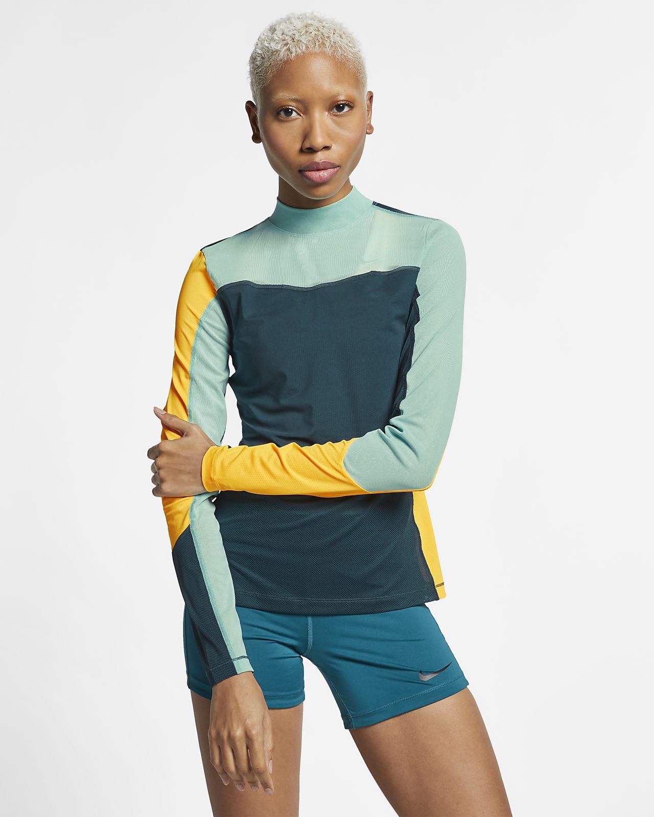 Langærmet Nike Pro HyperCool-top til kvinder