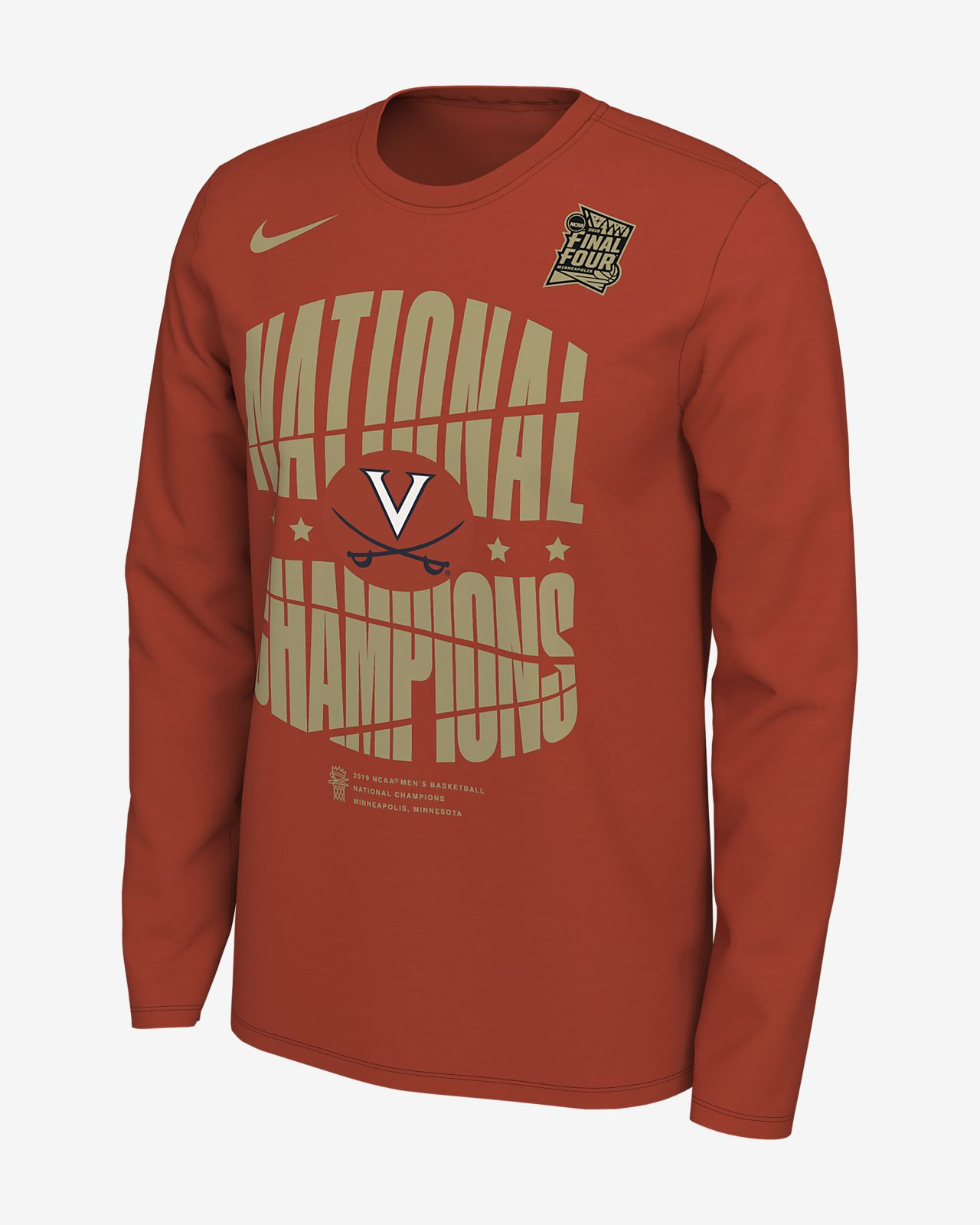 "1a9c4eb8bbe2 Men s Long-Sleeve Crew. Nike College Final Four Celebration ""National  Champions"" (Virginia)"