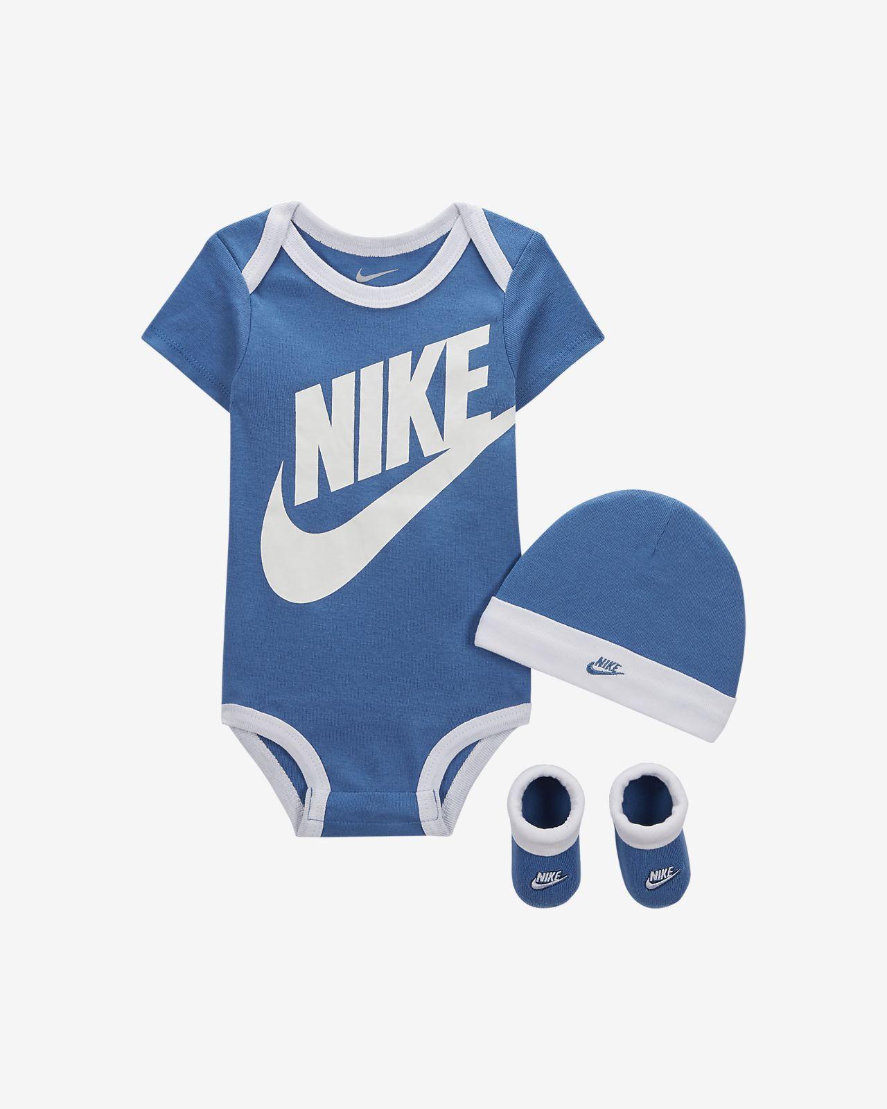 Nike Sportswear Baby Bodysuit, Beanie and Booties Set