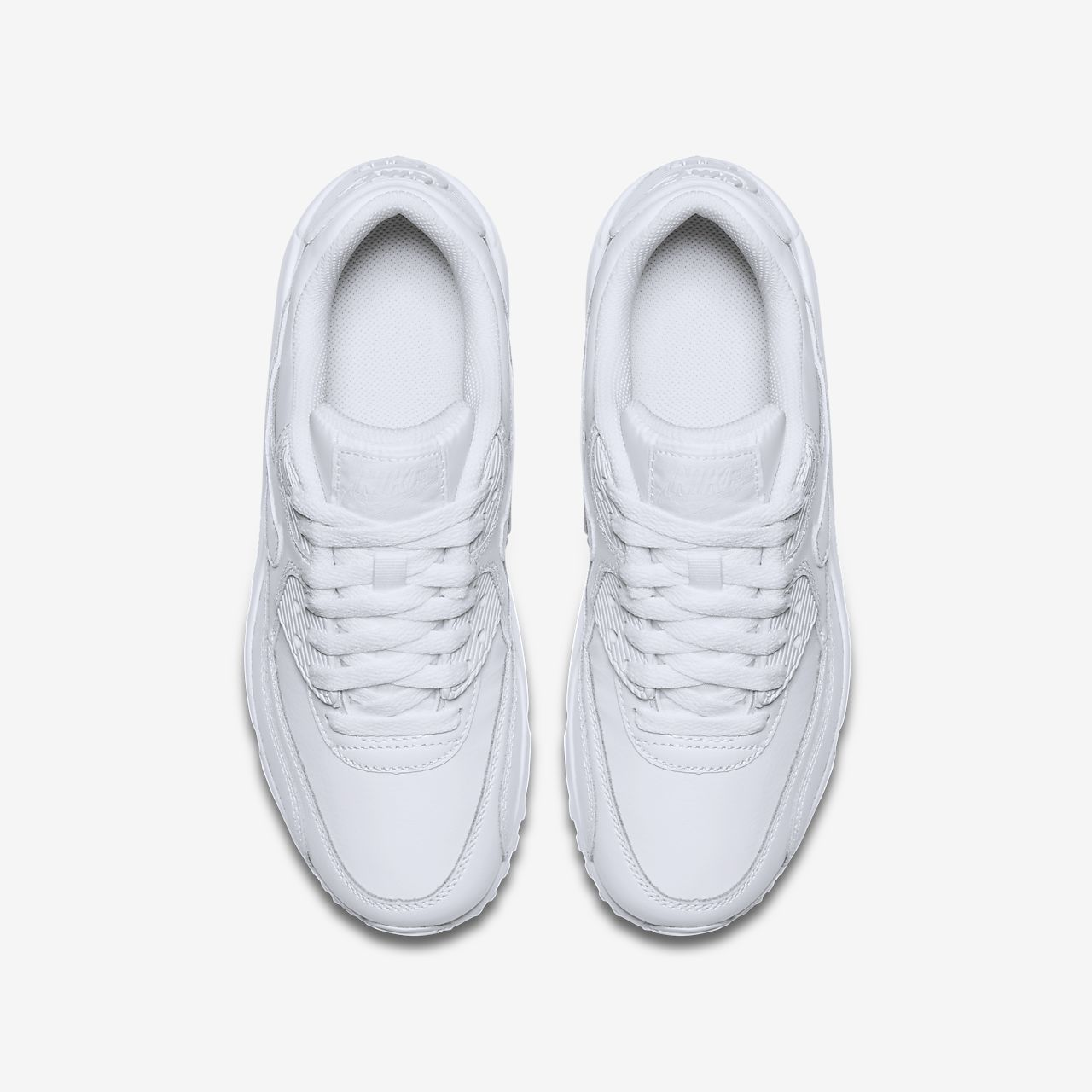 Nike White Nike Air Max 90 Leather Infants Trainers