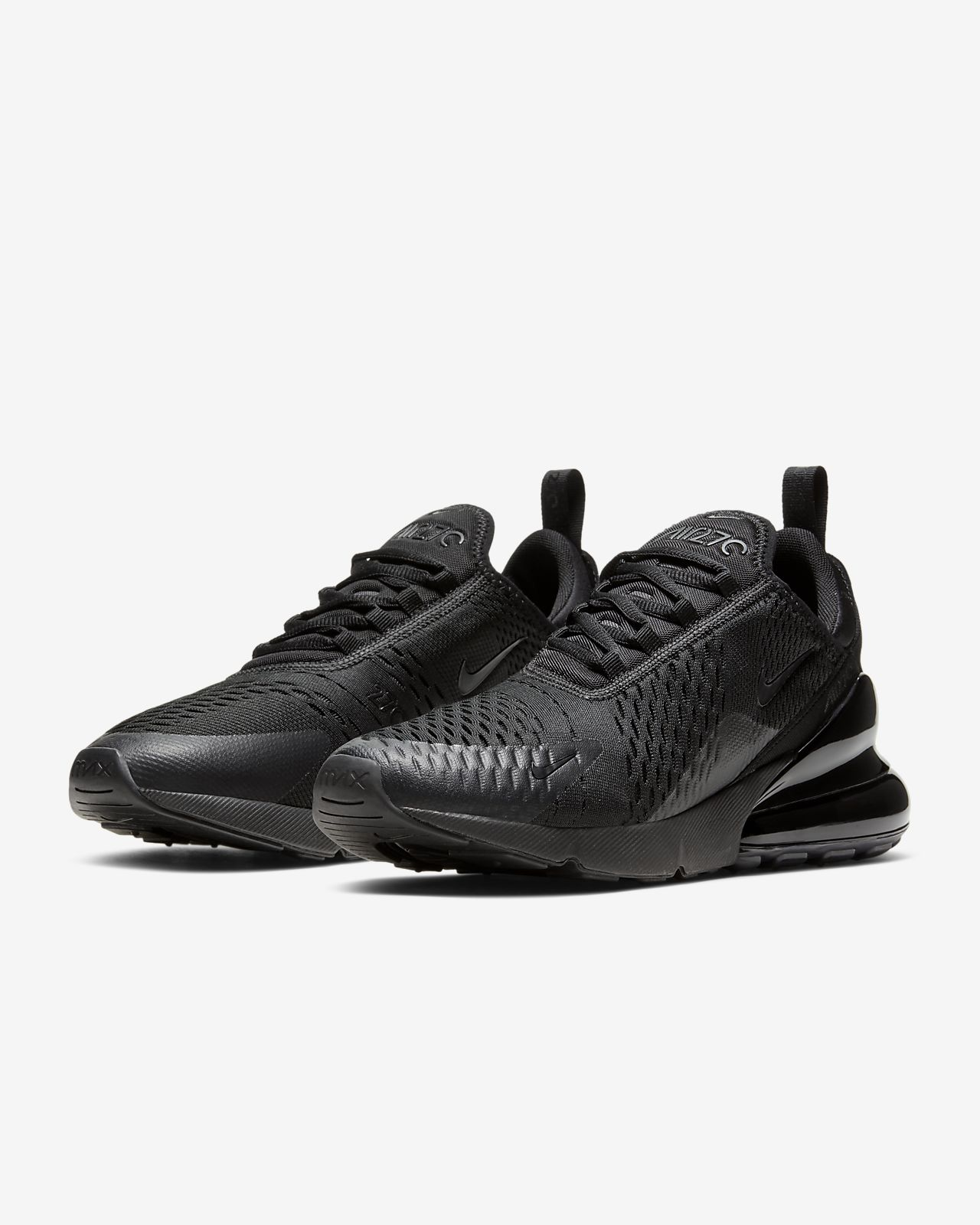 Men's Nike Air Max 270 Flyknit Black Green AH8050 030 Boys Running Shoes AH8050 030
