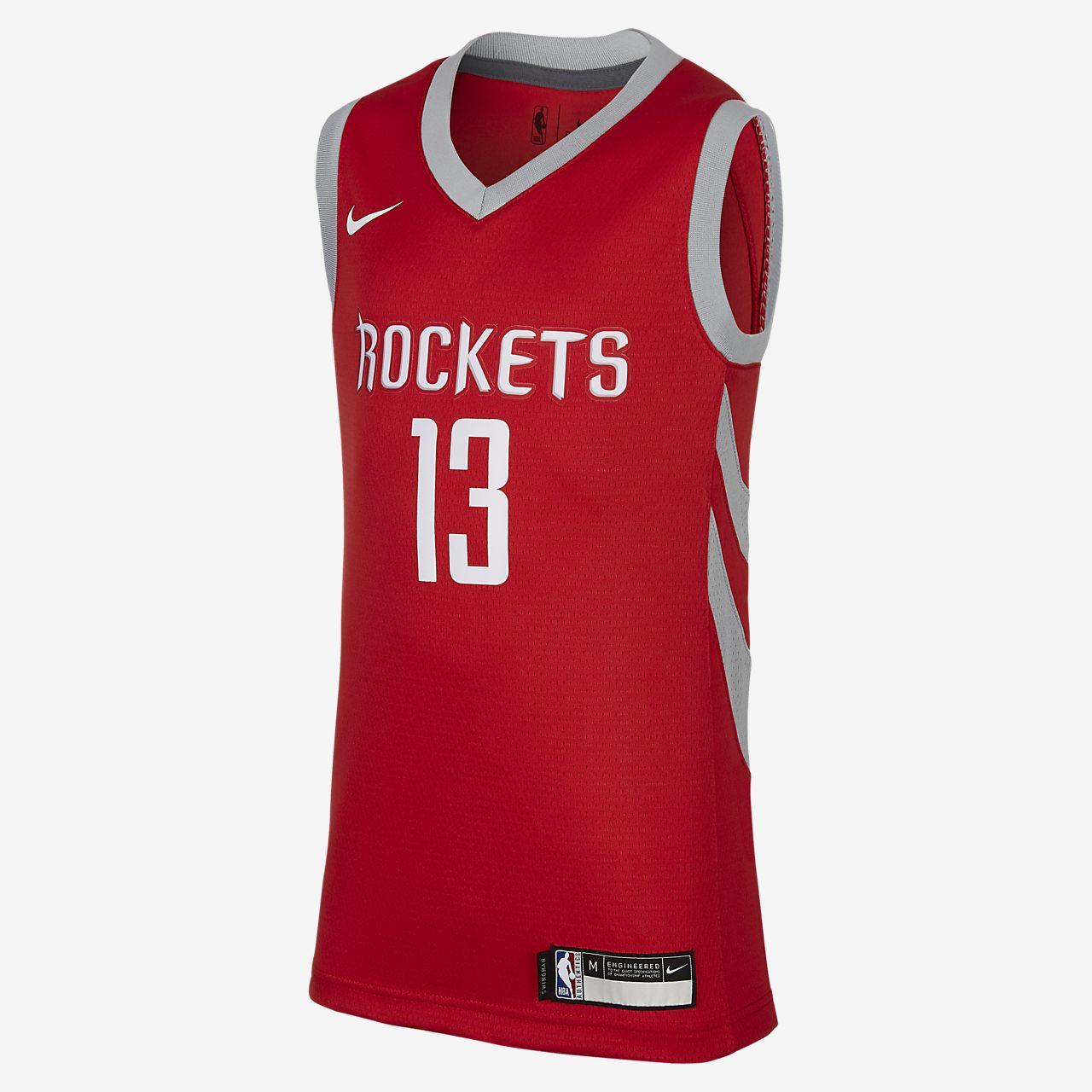 休斯顿火箭队 Icon Edition SwingmanNike NBA Jersey大童 (男孩)球衣