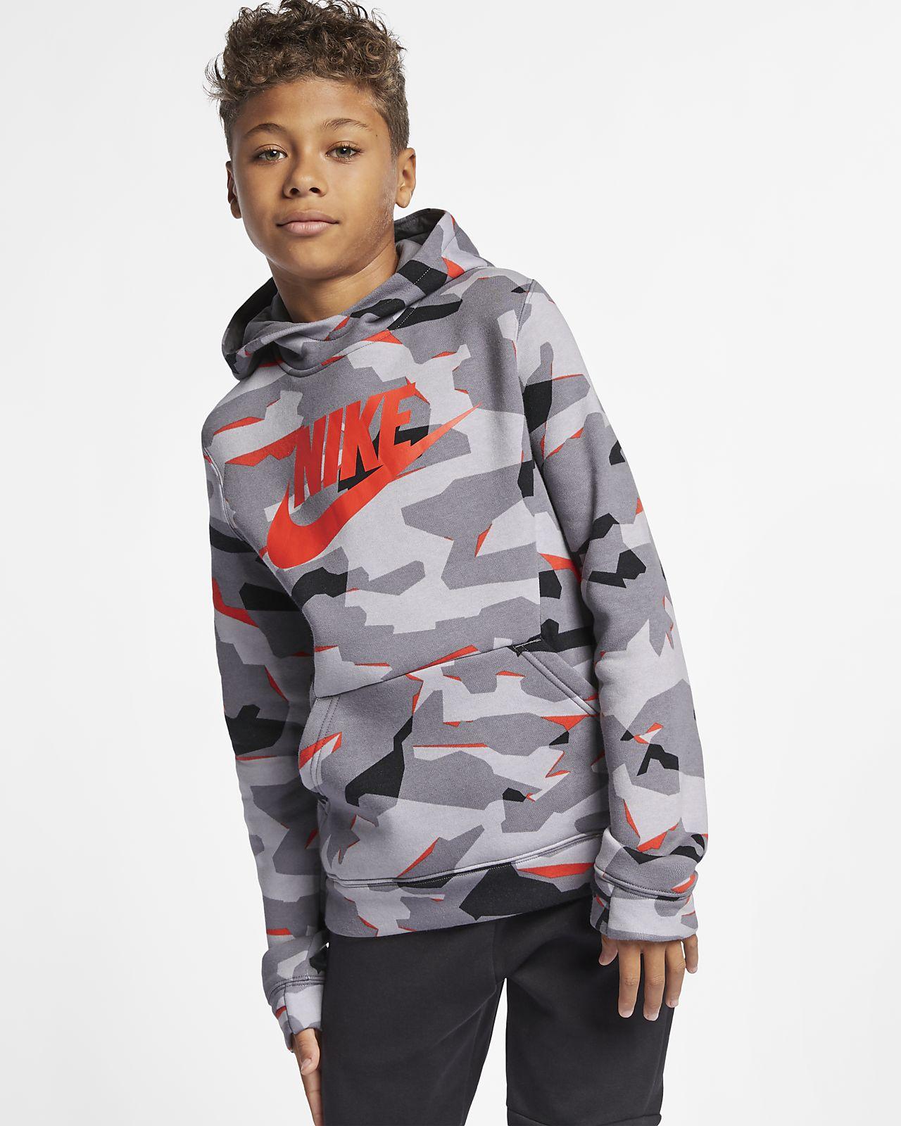 Camouflage Plus Sweat Nike Sportswear Âgé Capuche Garçon Pour À 00Eq1w7