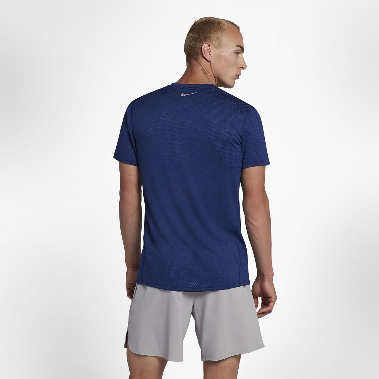 brand new 637d3 65c28 ... Nike Dri-FIT Miler Cool Men s Short-Sleeve Running Top