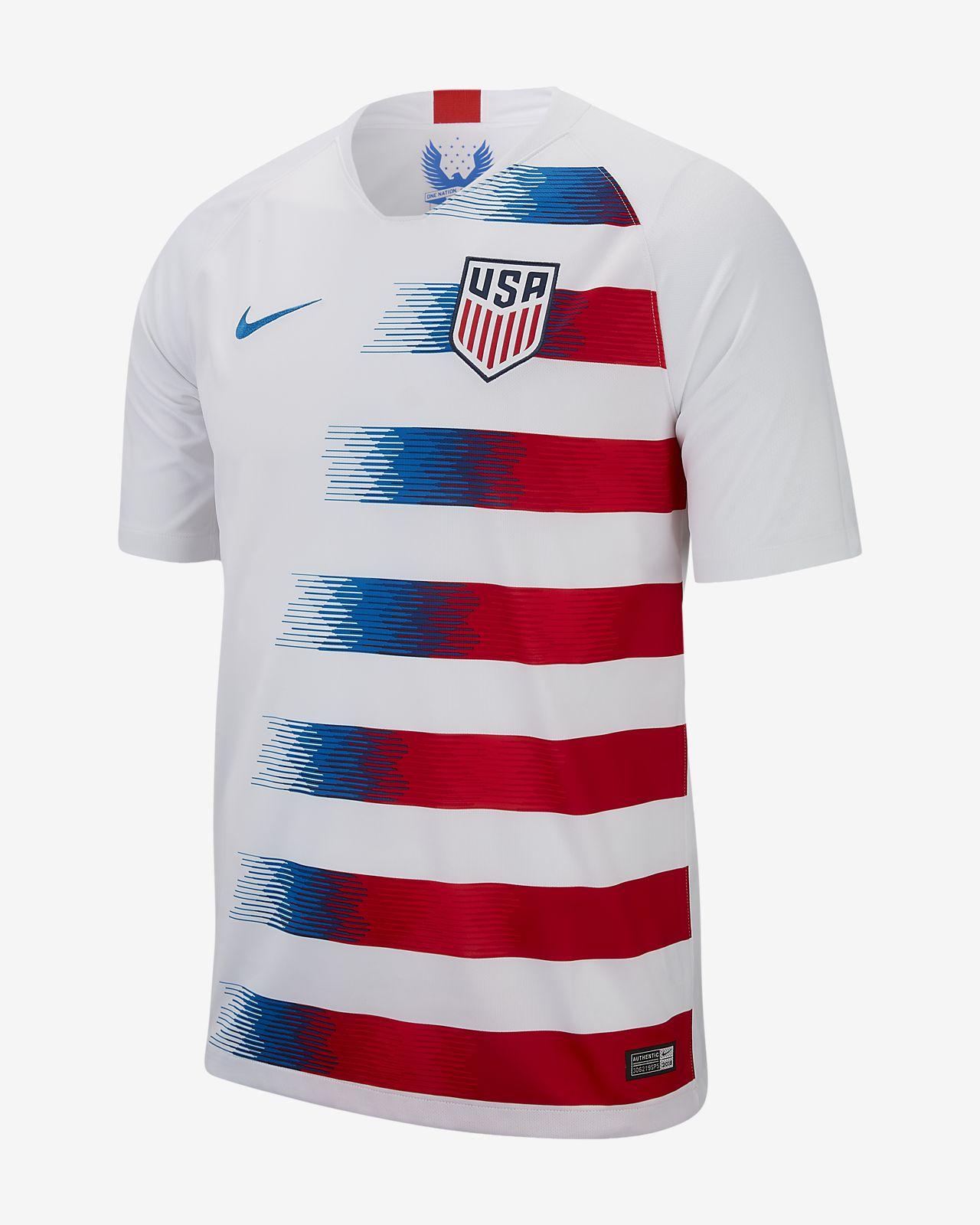 2018 アメリカ U.S. スタジアム ホーム メンズ サッカージャージー