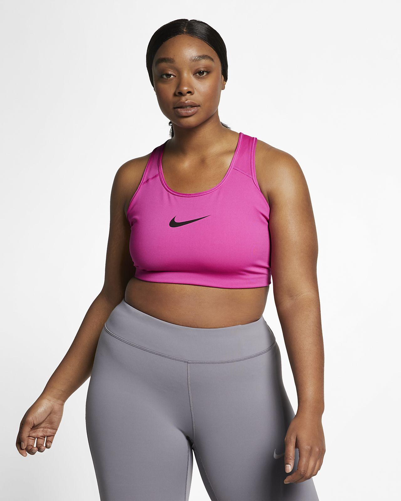 Sport-BH Nike Swoosh med mediumstöd (Plus Size)