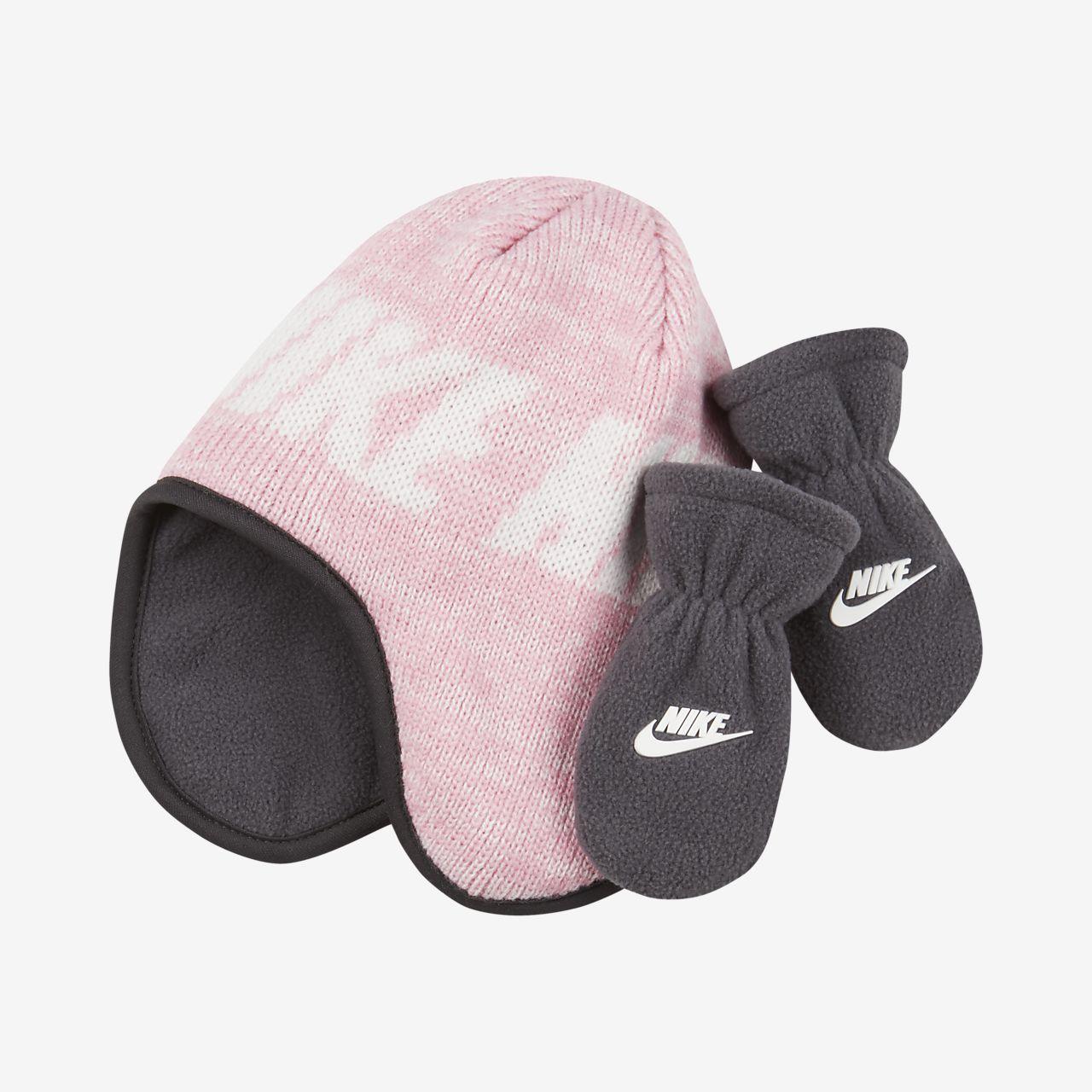 Nike-2-delt sæt med hue og vanter til småbørn