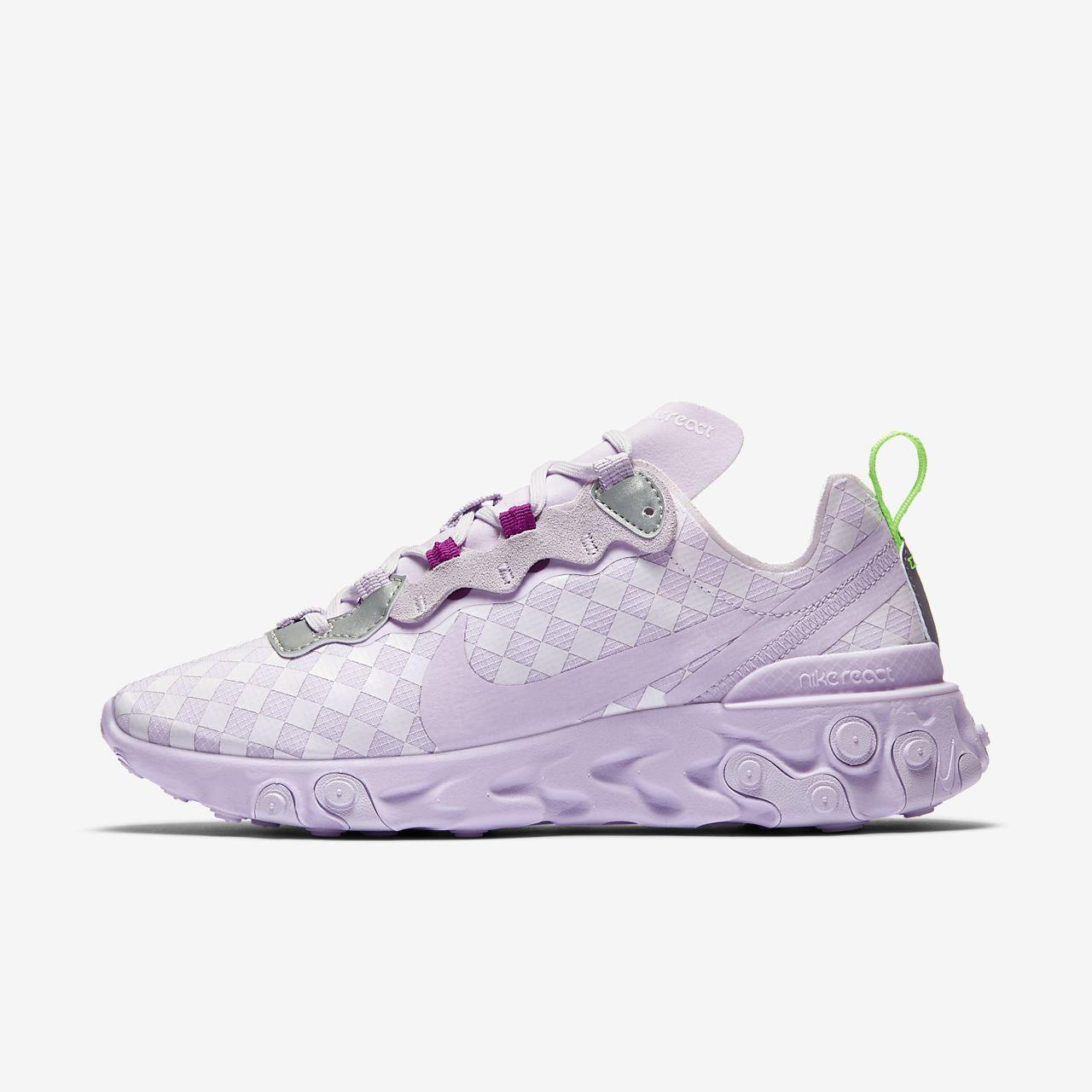 Rutmönstrad sko Nike React Element 55 för kvinnor