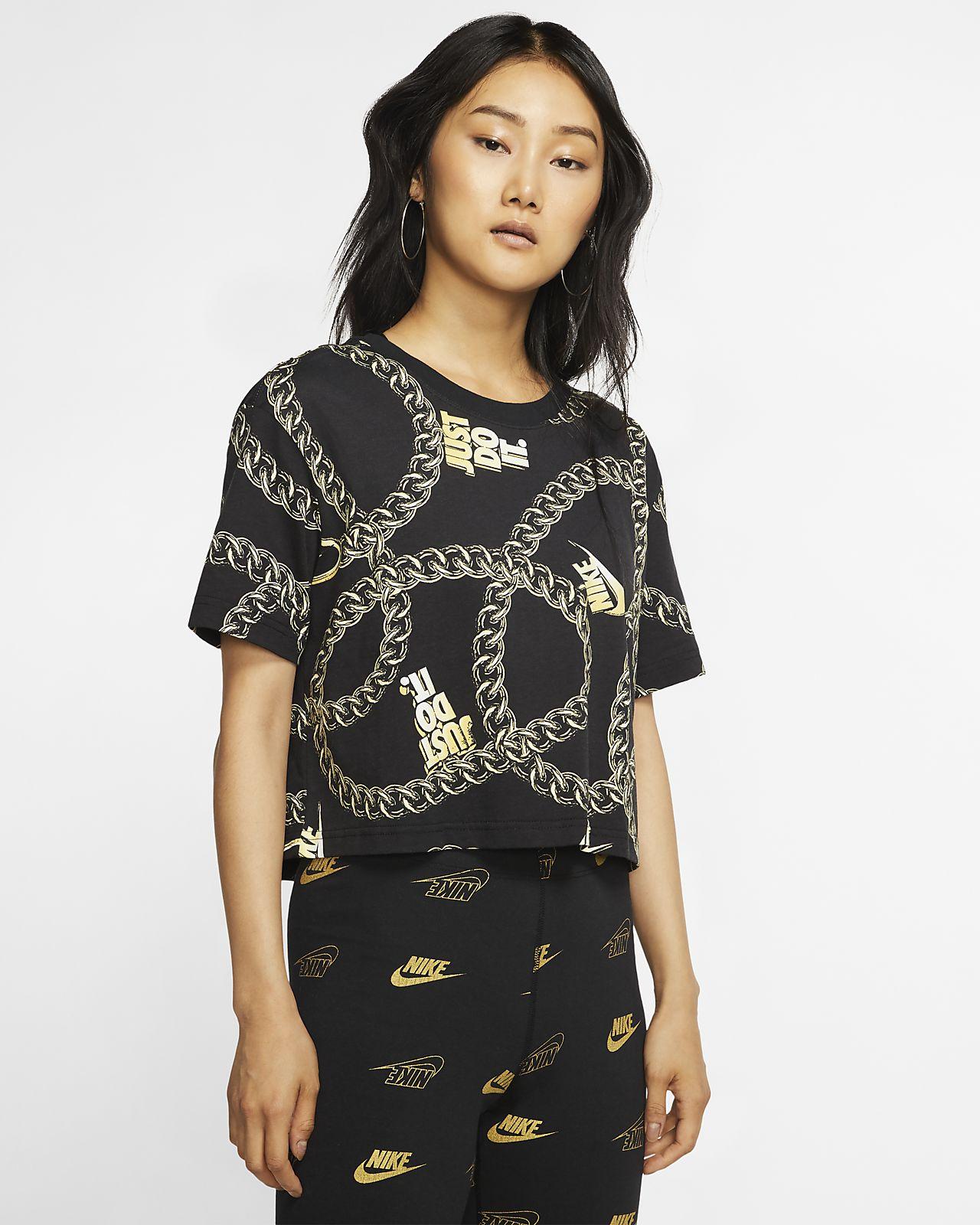 T shirt corta Nike Sportswear Icon Clash Donna