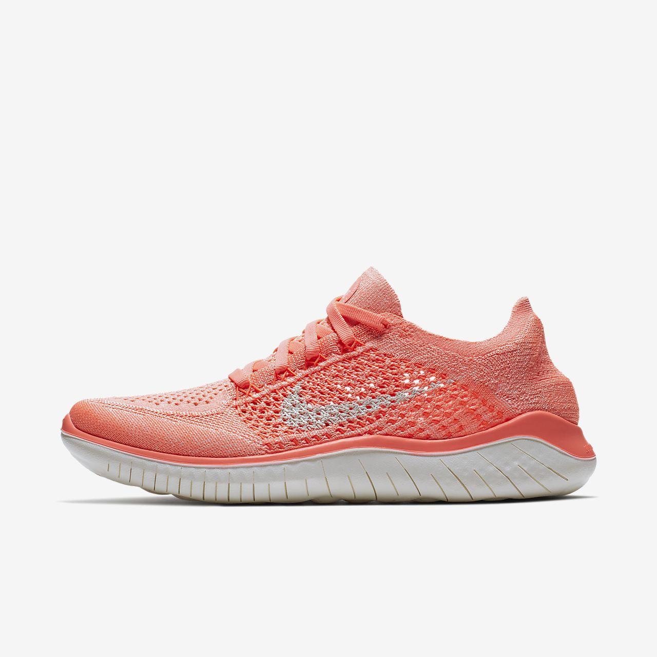 Wmns Nike Libre Rn Flyknit 2018 - Chaussures Pour Femmes / Orange Nike ZBiTYuaITi