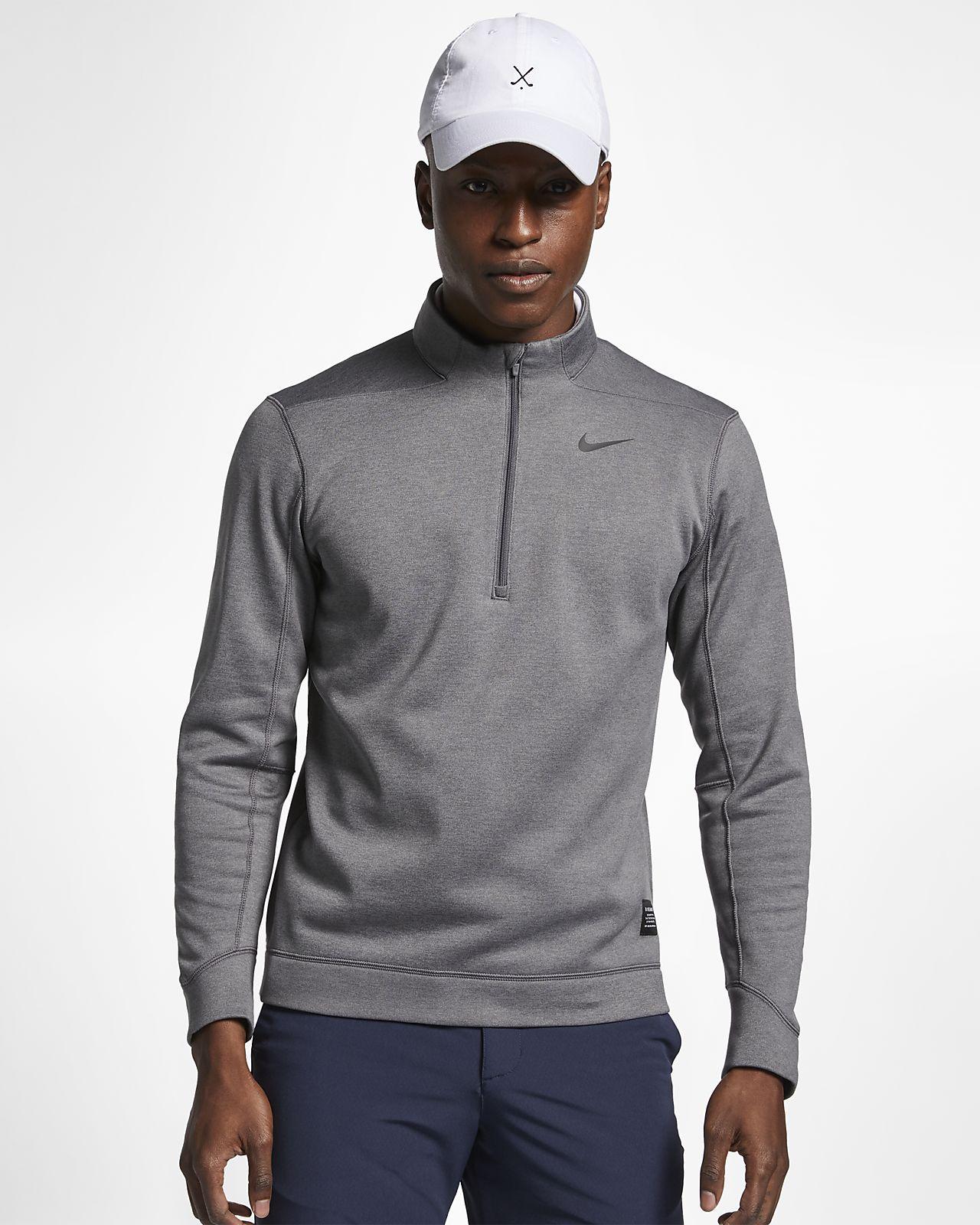 Golftröja Nike Therma Repel med halvt blixtlås för män