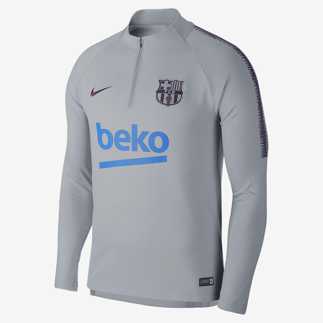 FC Barcelona Dri-FIT Squad Drill Camiseta de fútbol de manga larga - Hombre fb50dbc52ed
