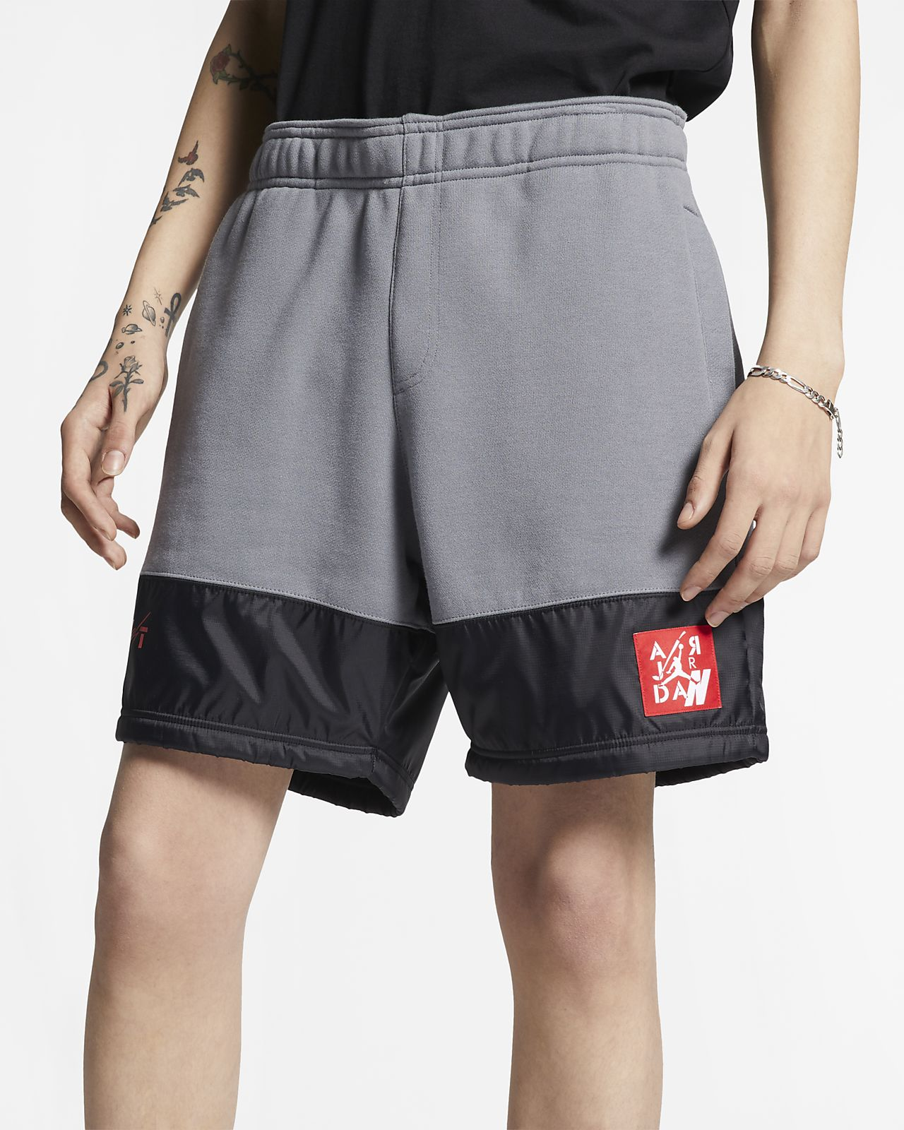 กางเกงขาสั้นผ้าฟลีซผู้ชาย Jordan Legacy AJ4
