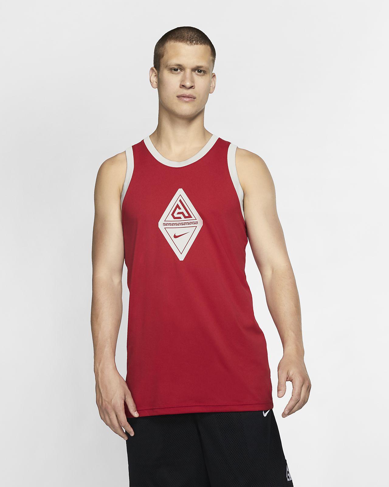 Giannis Logo ermeløs basketsinglet til herre