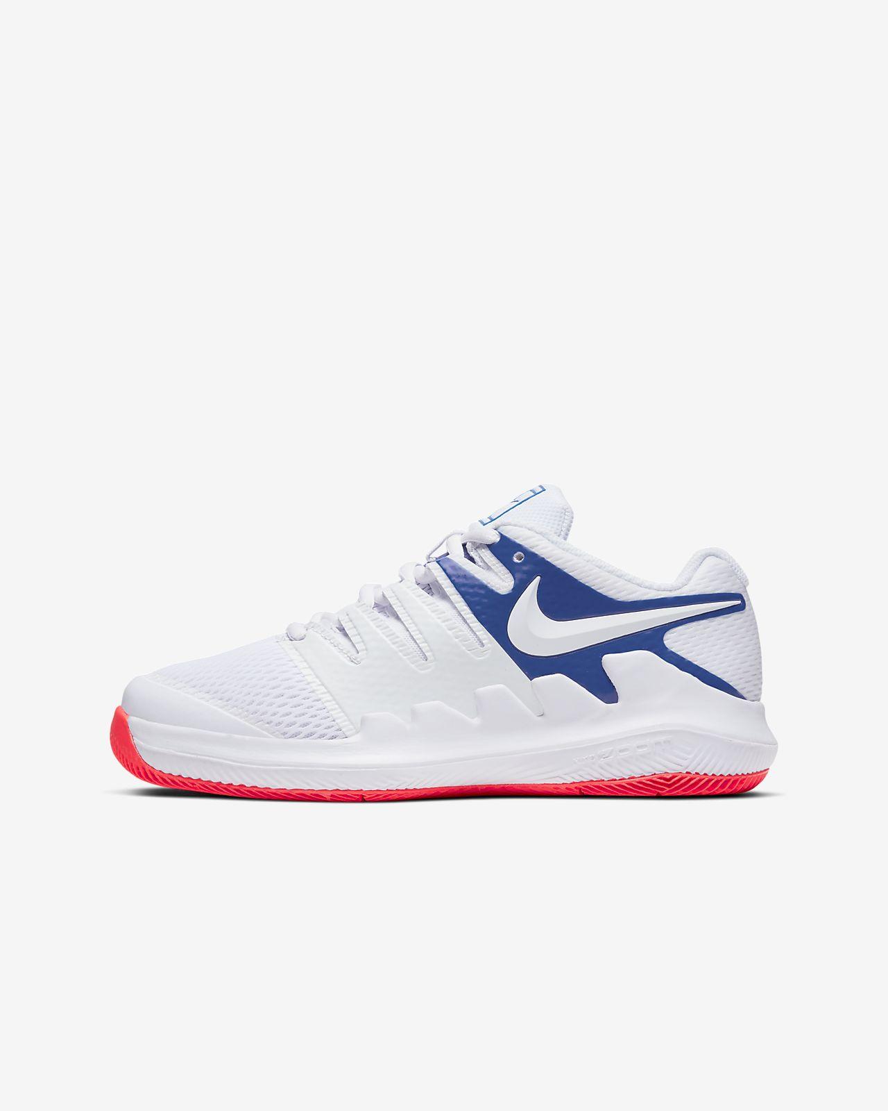 Tennissko NikeCourt Jr. Vapor X för barn/ungdom