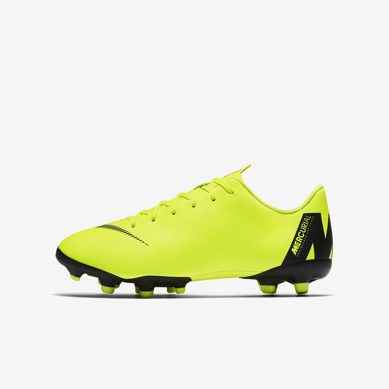 Calzado de fútbol multiterreno para niños talla pequeña grande Nike Jr. Mercurial  Vapor XII 487090db6d1c2