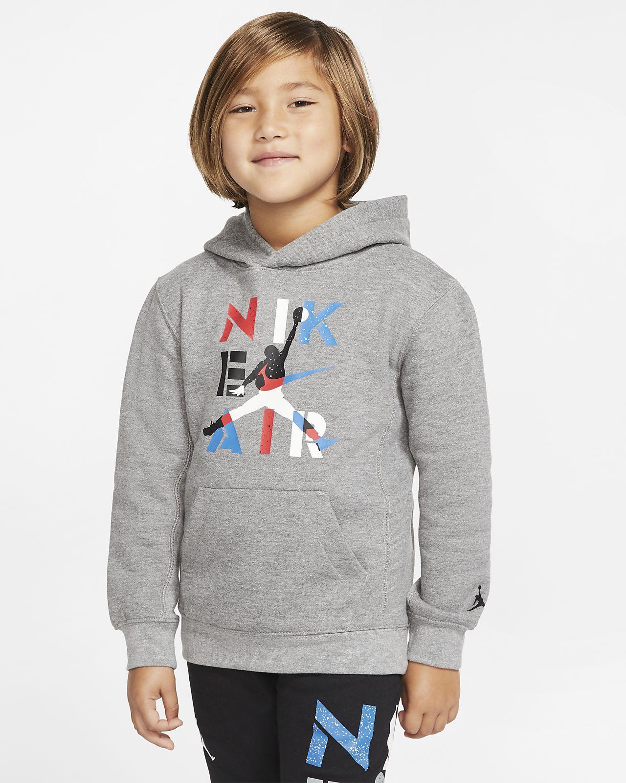 Μπλούζα με κουκούλα Air Jordan για μικρά παιδιά