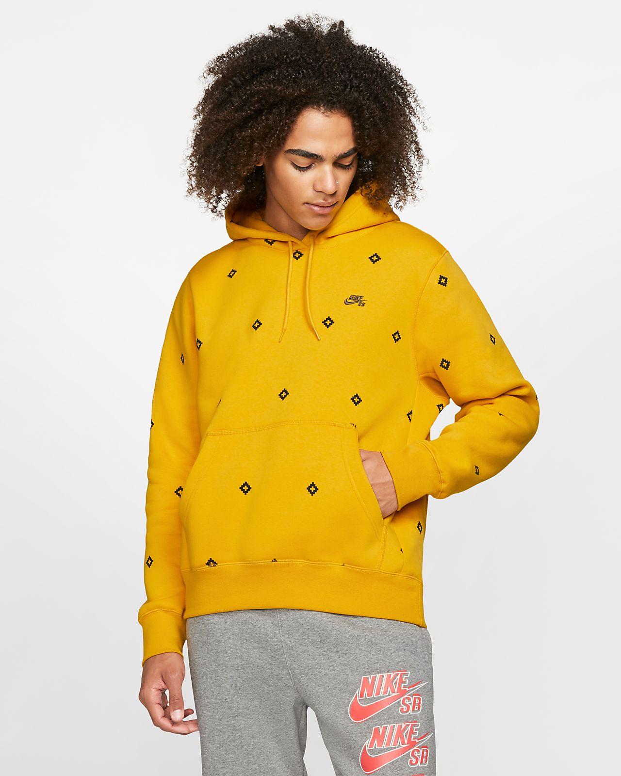 Sudadera con capucha sin cierre de skateboarding estampada para hombre Nike SB Icon