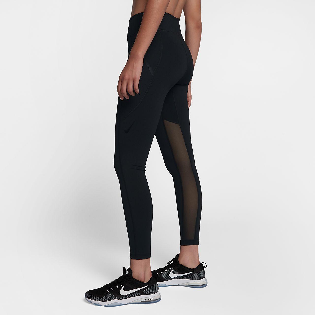 Nike Power Pocket Lux Trainings-Tights mit hohem Bündchen für Damen