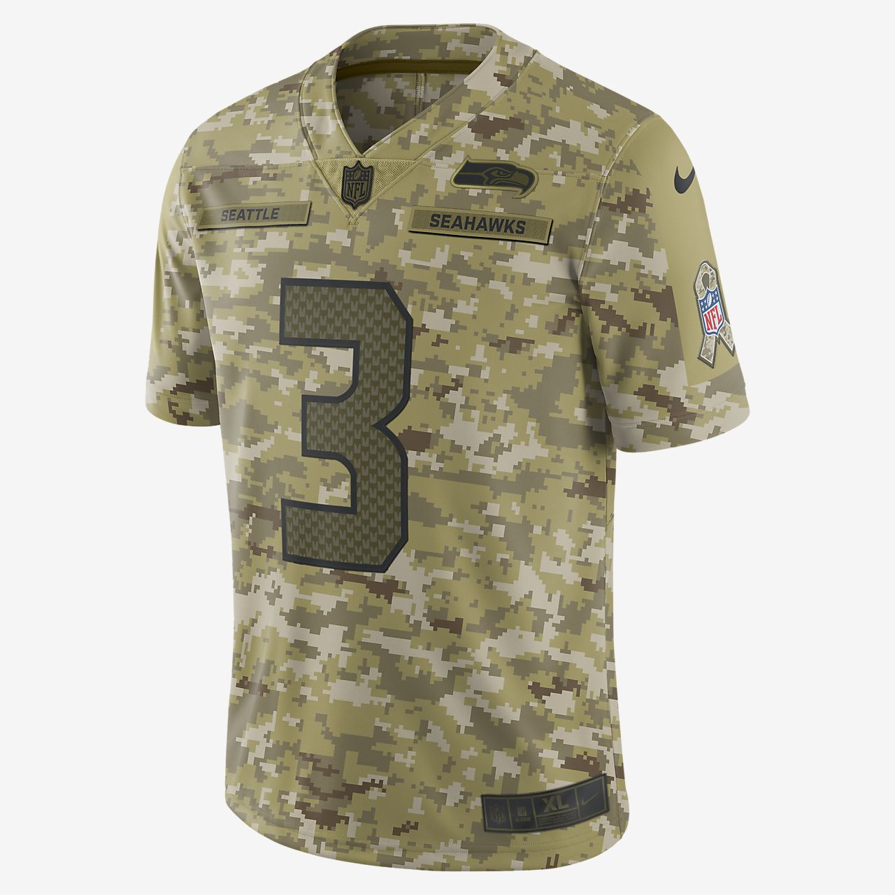 ed33d3b7cb9 Big Kids' Football Jersey. NFL Seattle Seahawks Salute to Service (Russell  Wilson)