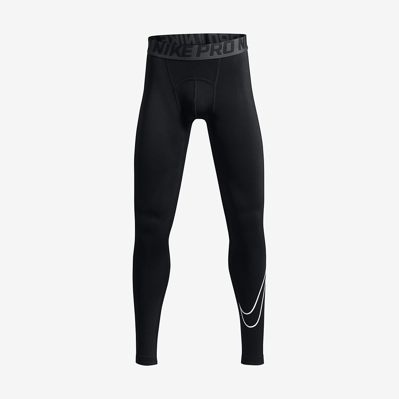 Nike Pro Big Kids' Training Tights Black/Anthracite/White