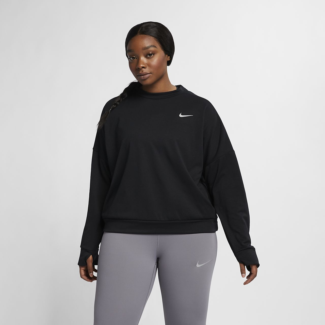 Nike Therma-Sphere Element (Plus Size) Women Long-Sleeve Running Top