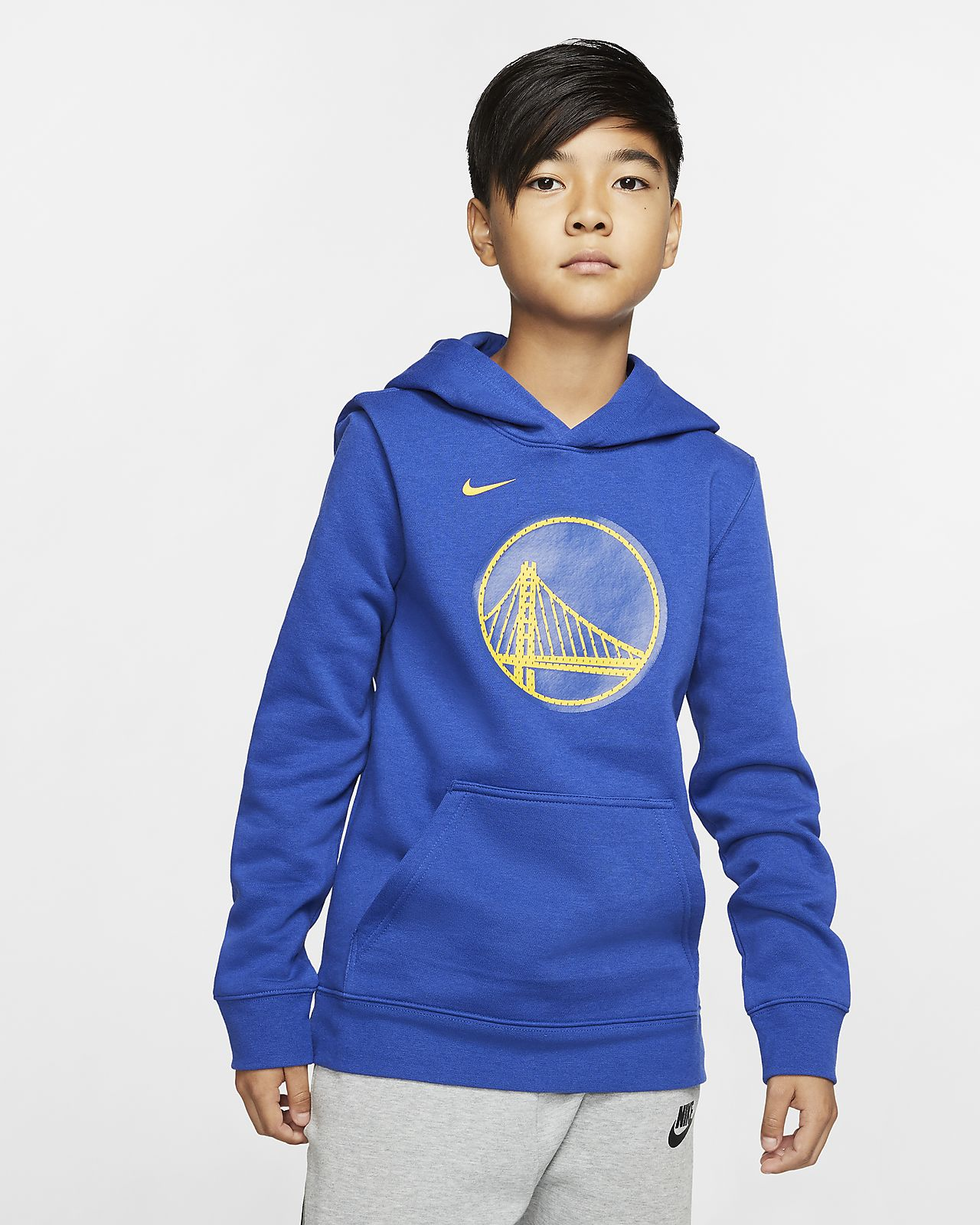 Sweat à capuche Nike NBA Golden State Warriors Logo pour Enfant plus âgé