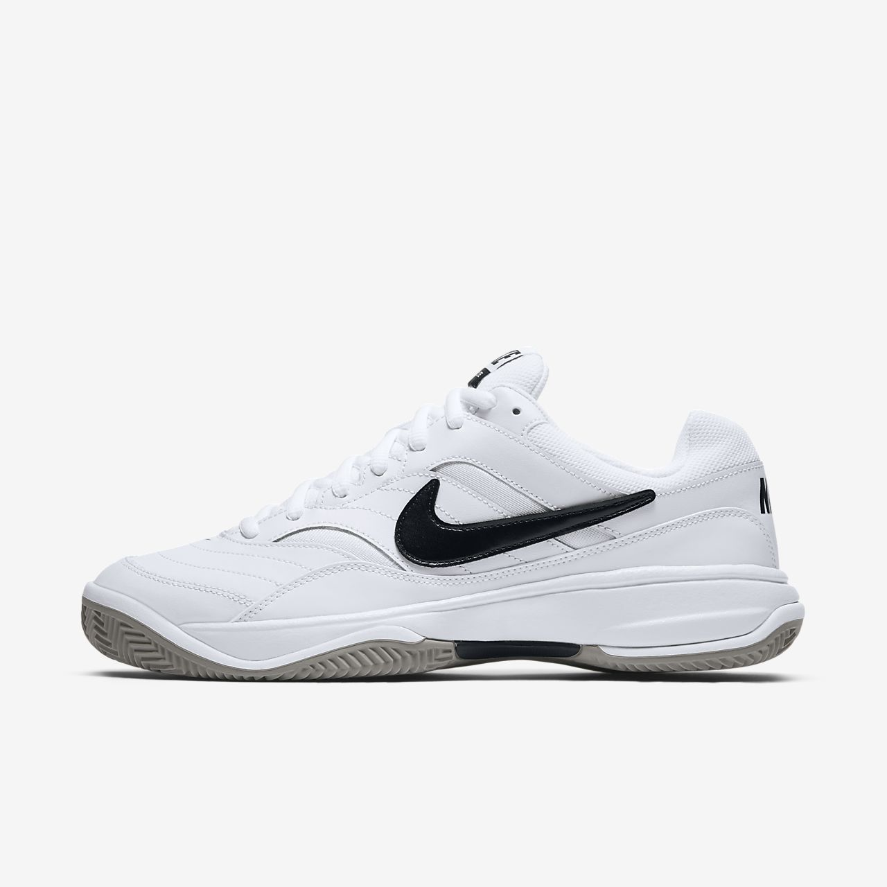 Nike Court Lite Clay (845026-100) Mens Tennis Shoes White/Black/Grey