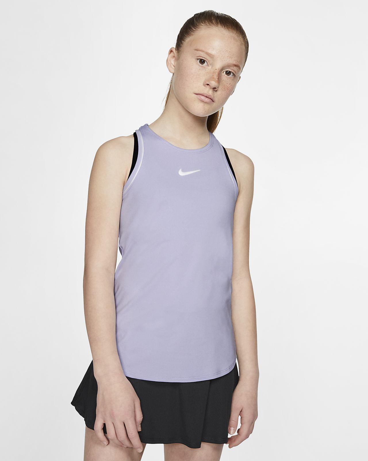 Camisola de ténis sem mangas NikeCourt Dri-FIT Júnior (Rapariga)