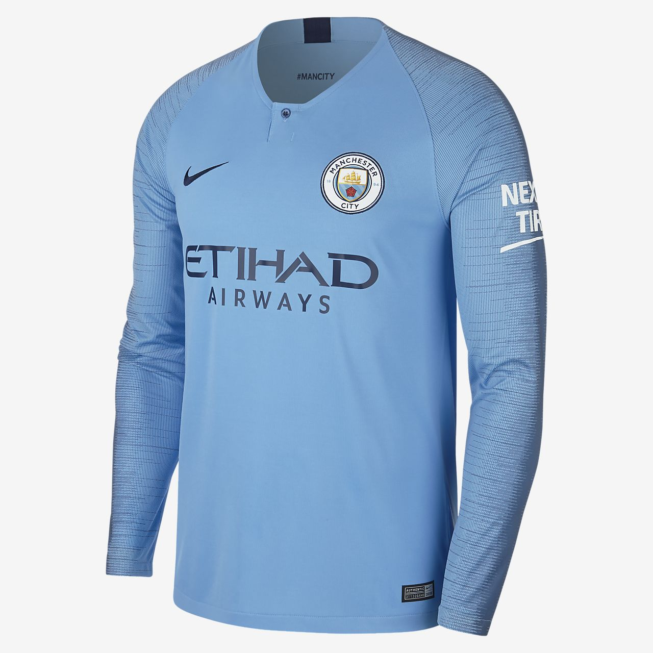 91ee15d2ecc ... 2018 19 Manchester City FC Stadium Home Men s Long-Sleeve Football Shirt