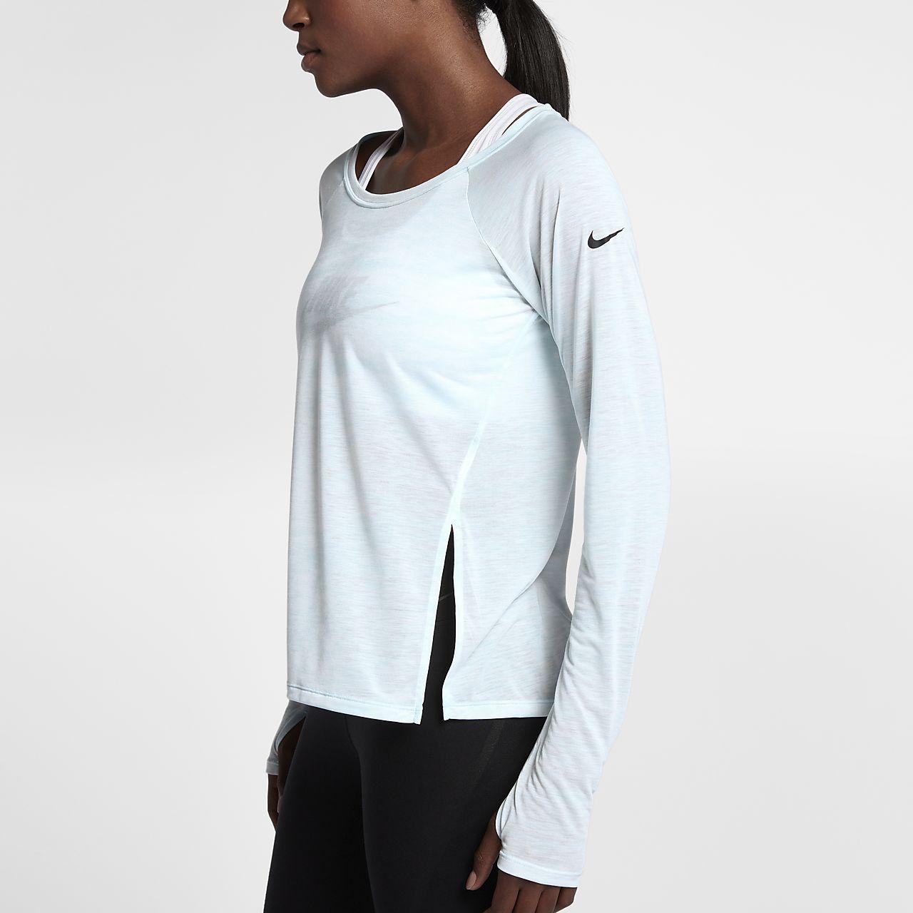 ... Nike Breathe Women's Long Sleeve Training Top