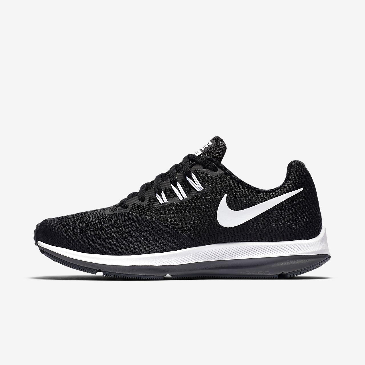 Femmes Zoom Winflo 4 Chaussures De Course, Noir Nike