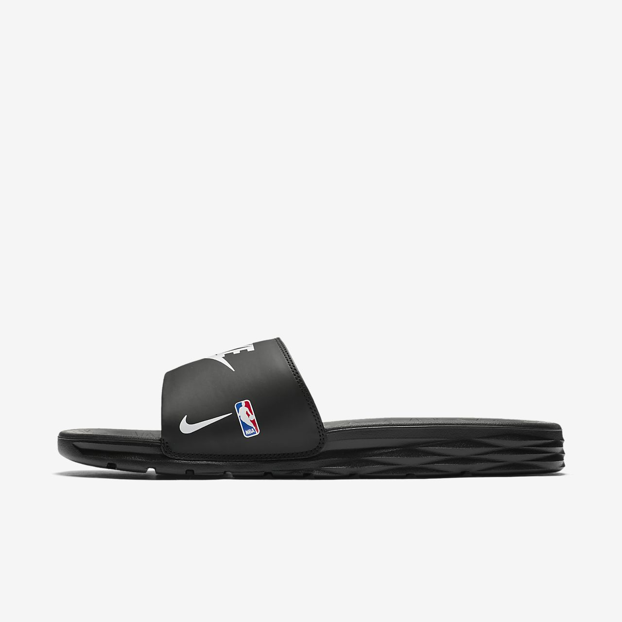 Nike BENASSI SOLARSOFT / ROUGE Rouge - Chaussures Claquettes