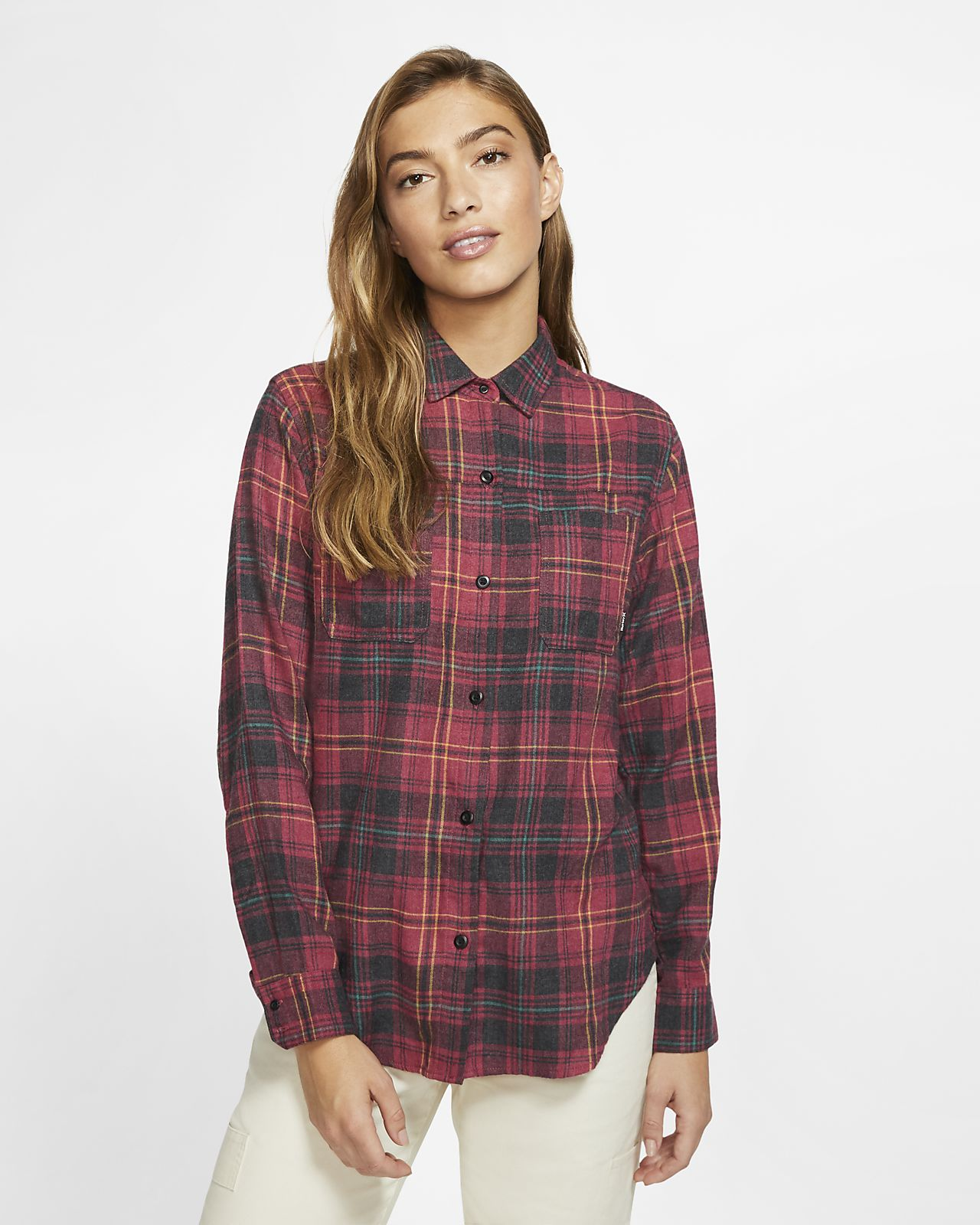 Hurley Wilson Checked Women's Long-Sleeve Flannel