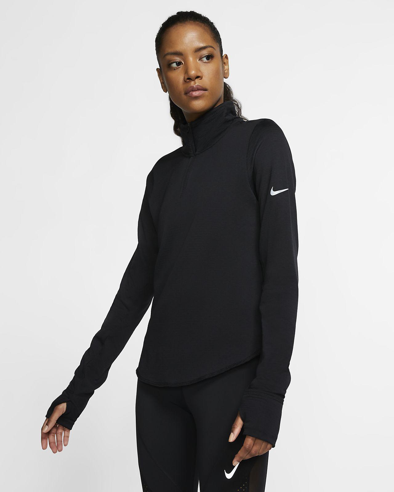 Γυναικεία μπλούζα για τρέξιμο με φερμουάρ στο μισό μήκος Nike Sphere