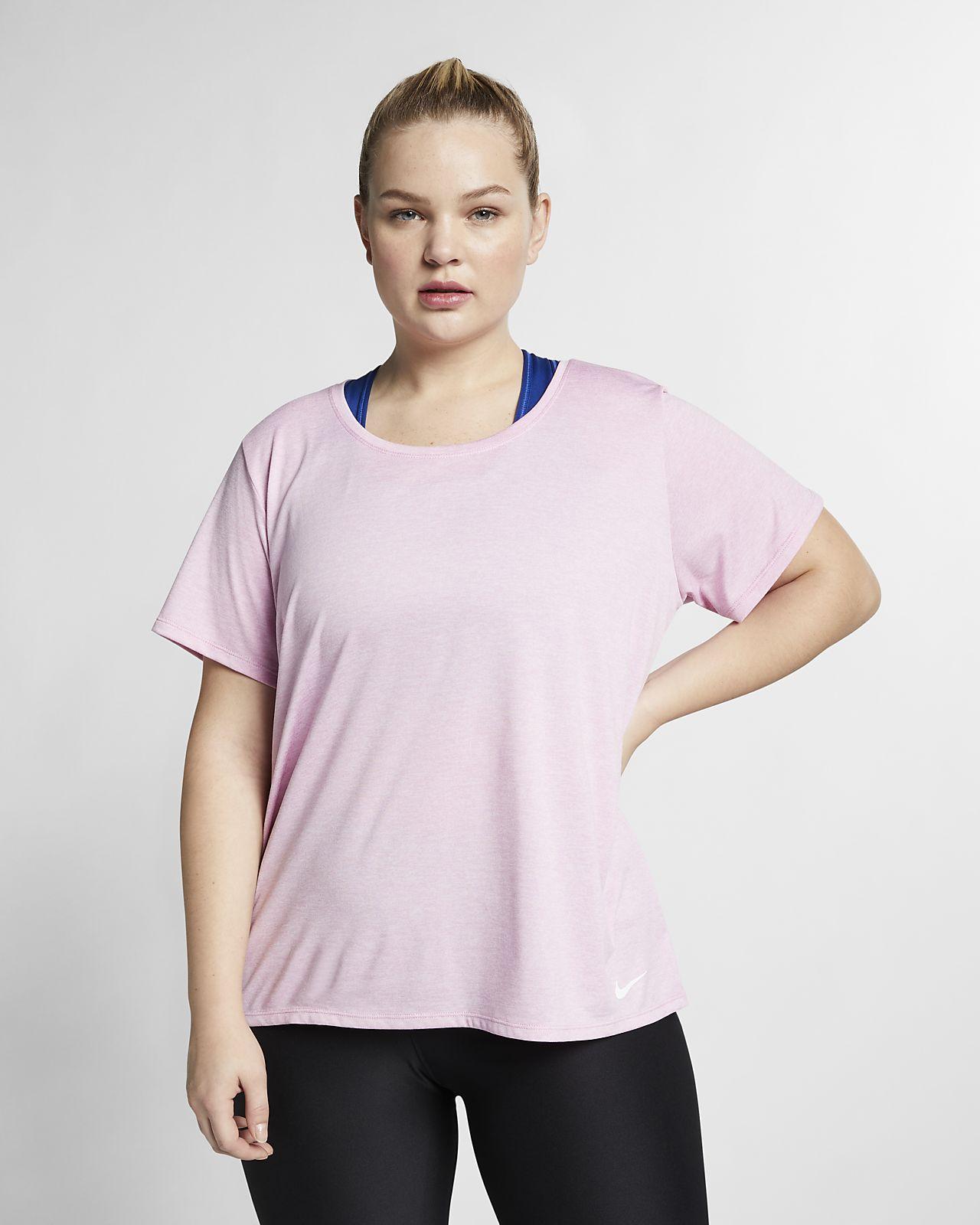 Nike Dri Fit Legend Plus Size Womens Short Sleeve Training Top
