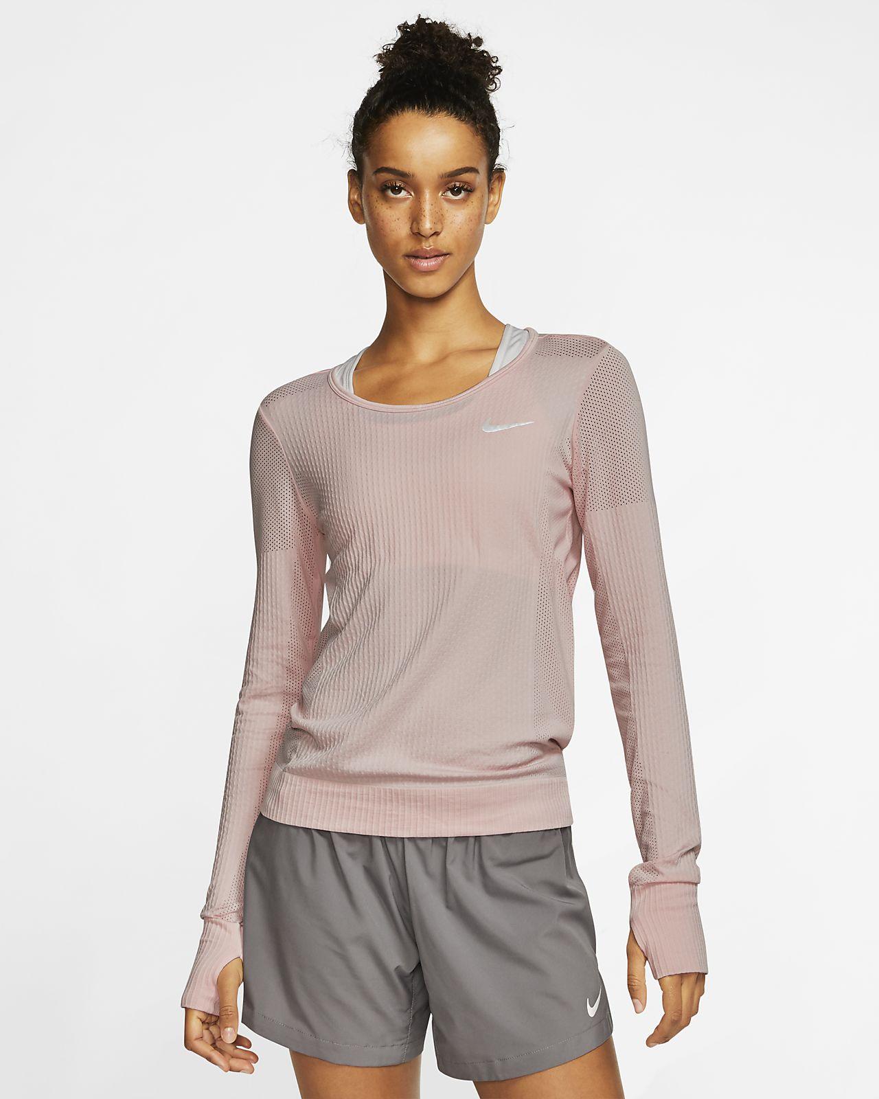 Γυναικεία μακρυμάνικη μπλούζα για τρέξιμο Nike Infinite