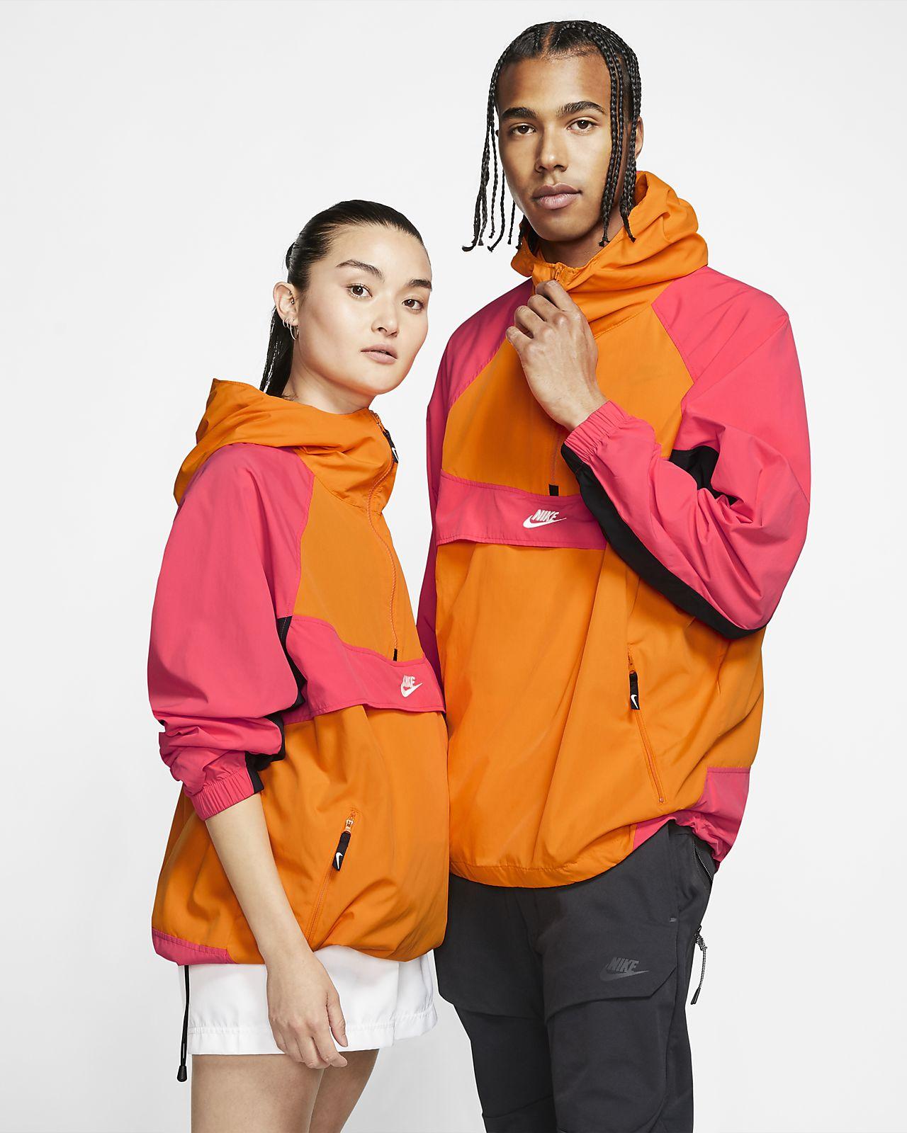 Huvjacka i vävt material Nike Sportswear