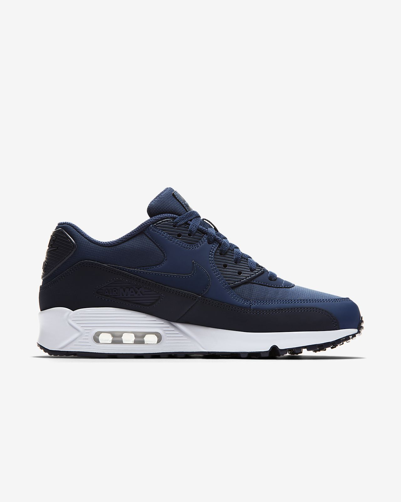 Hommes Nike Air Max 90 Og Formateurs - Bleu - 43 Eu IWelajxdCV