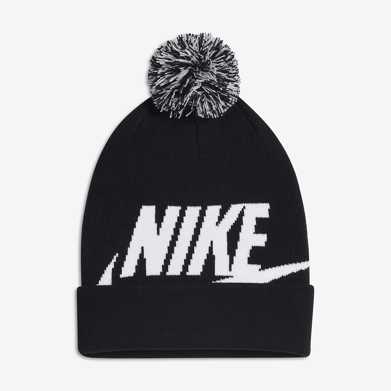 new concept e41ab db050 ... usa nike sportswear pom beanie older kids knit hat dc29d 52b67