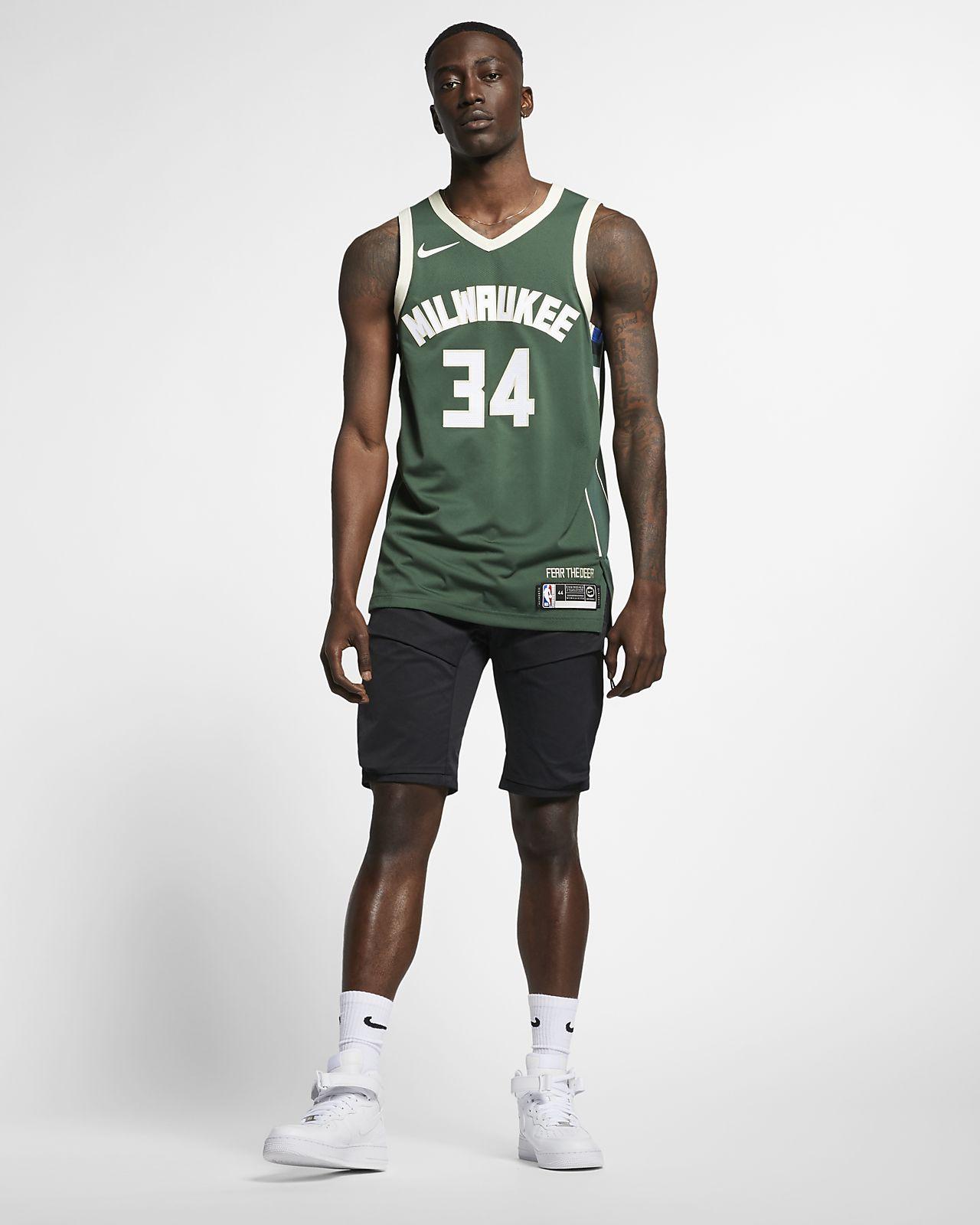 ec16255addd ... Giannis Antetokounmpo Icon Edition Authentic (Milwaukee Bucks) Men s  Nike NBA Connected Jersey