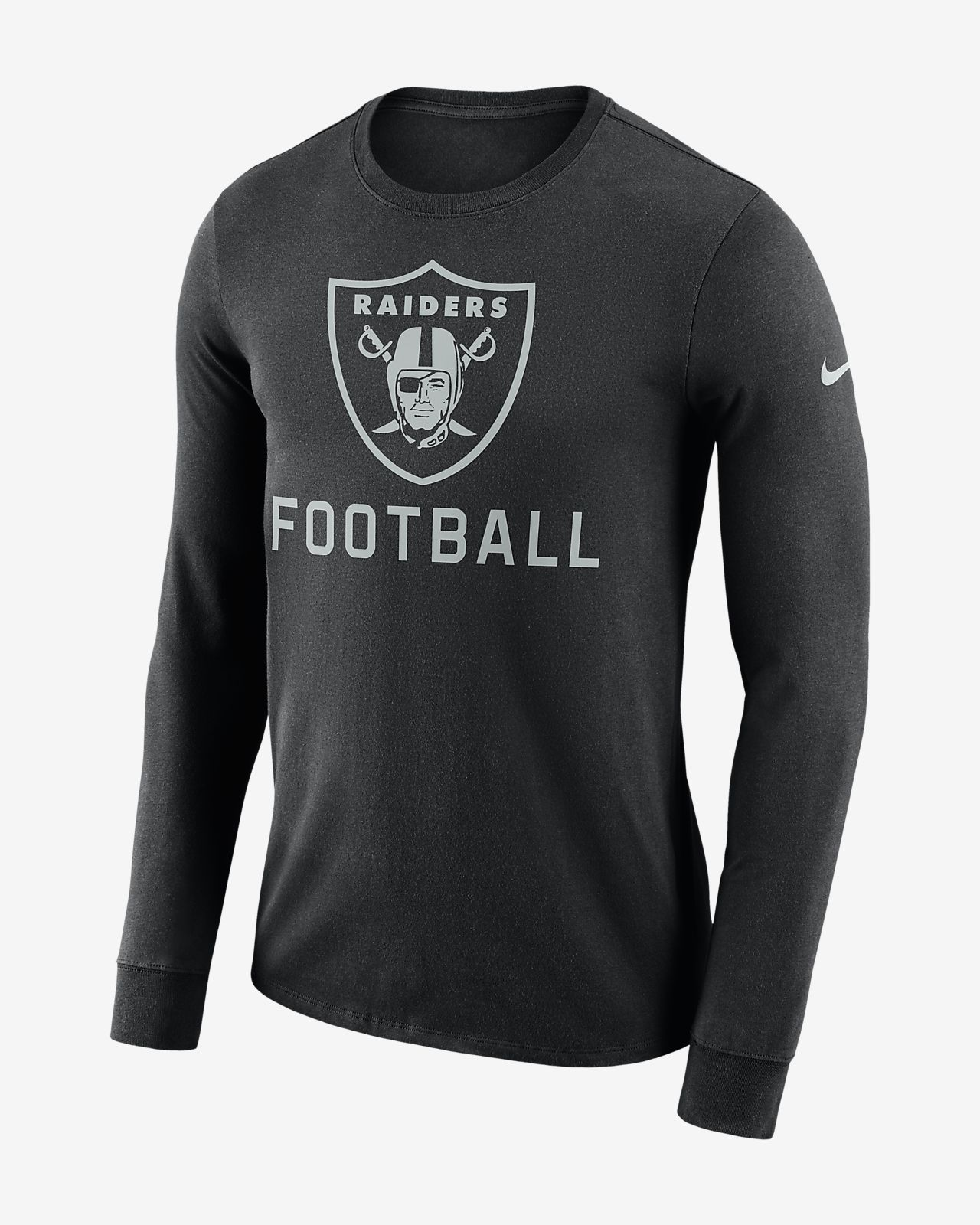 Nike Dri-FIT Seismic (NFL Raiders) Men s Long-Sleeve T-Shirt. Nike.com f76418a868a5