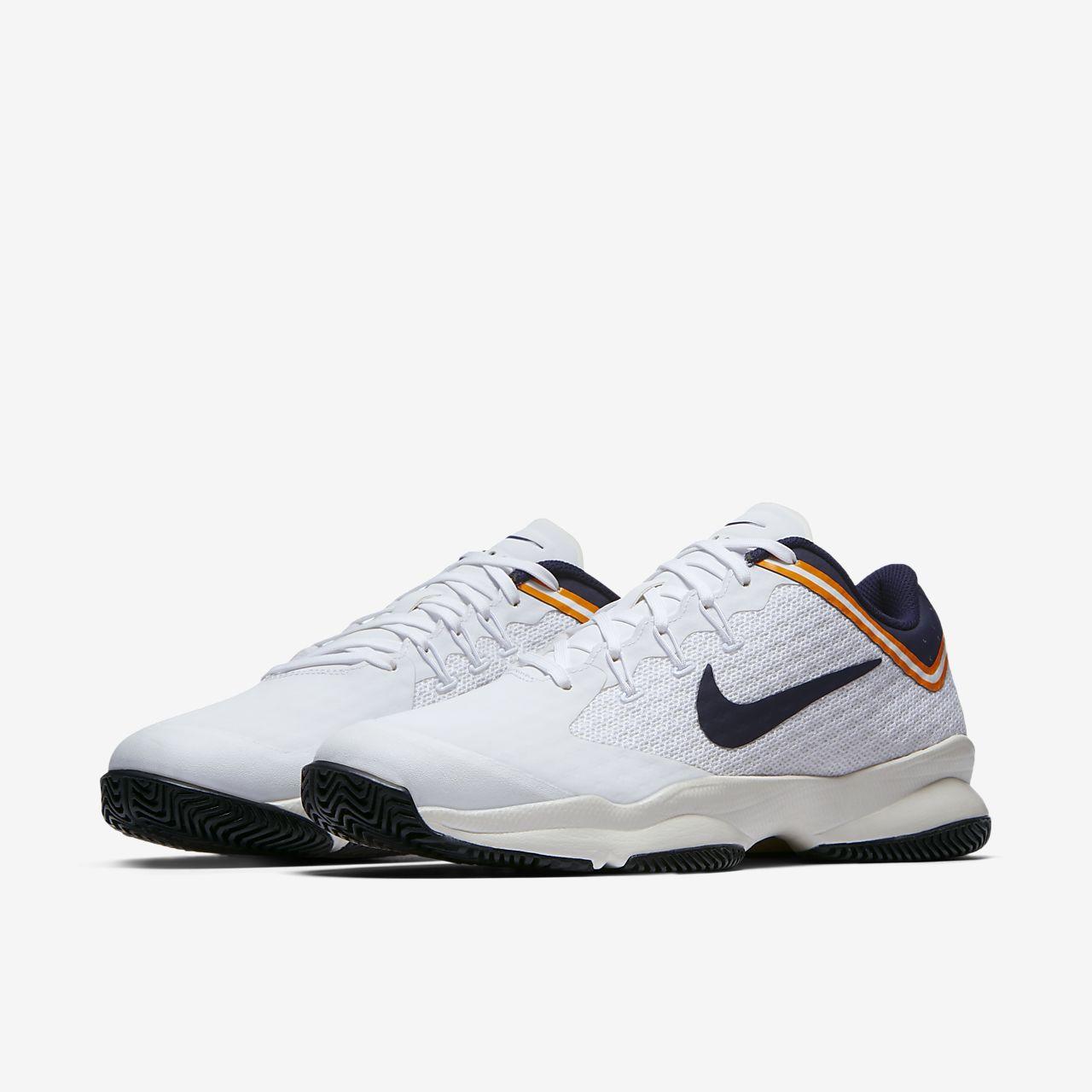 Nike PerformanceCOURT LITE CLAY - Outdoor tennis shoes - white/blackened blue/phantom/orange peel hE18kgzpvW