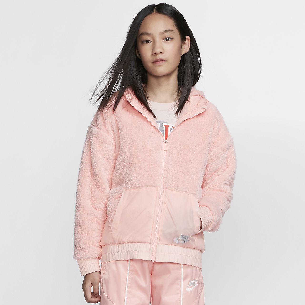 Veste en sherpa Nike Sportswear pour Fille plus âgée